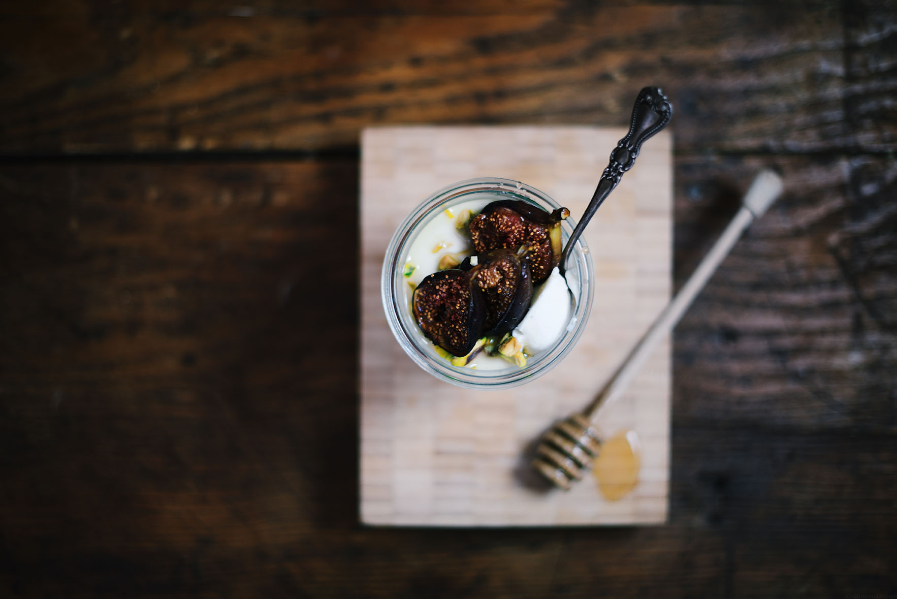 broiled figs with labneh panna cotta | A Brown Table