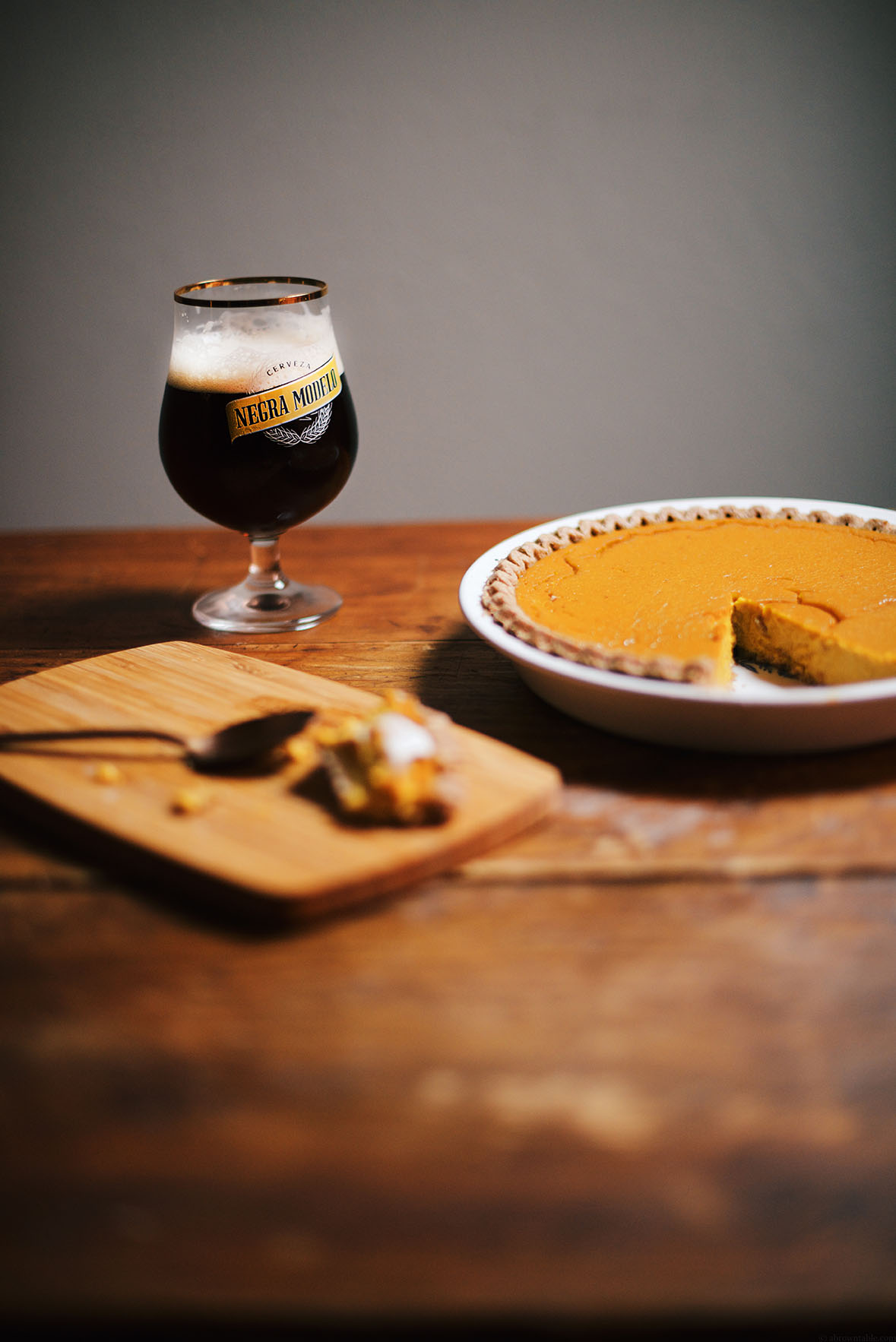pumpkin honey beer pie | A Brown Table
