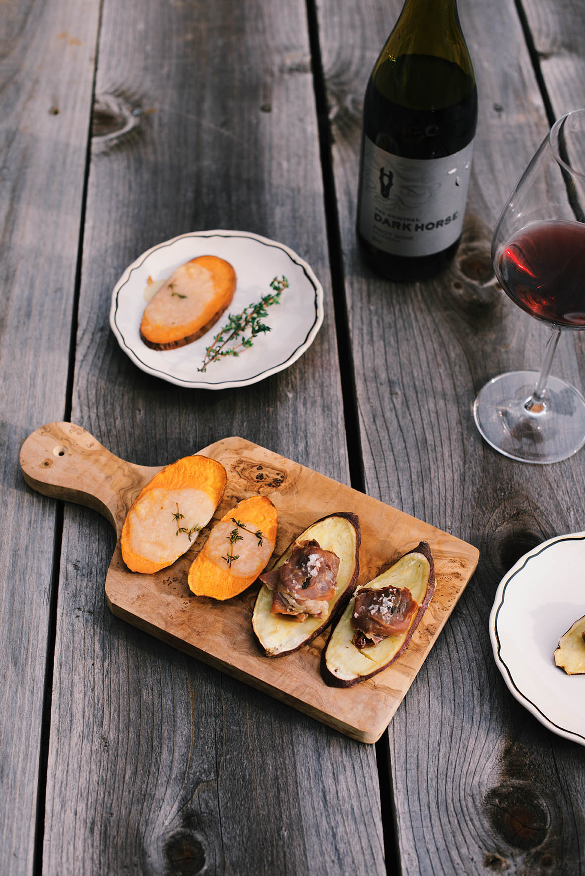 sweet potato crostinis | A Brown Table