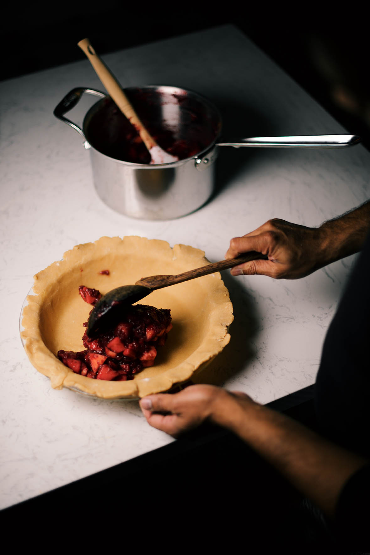 dry mango spiced apple cranberry pie |A Brown Table