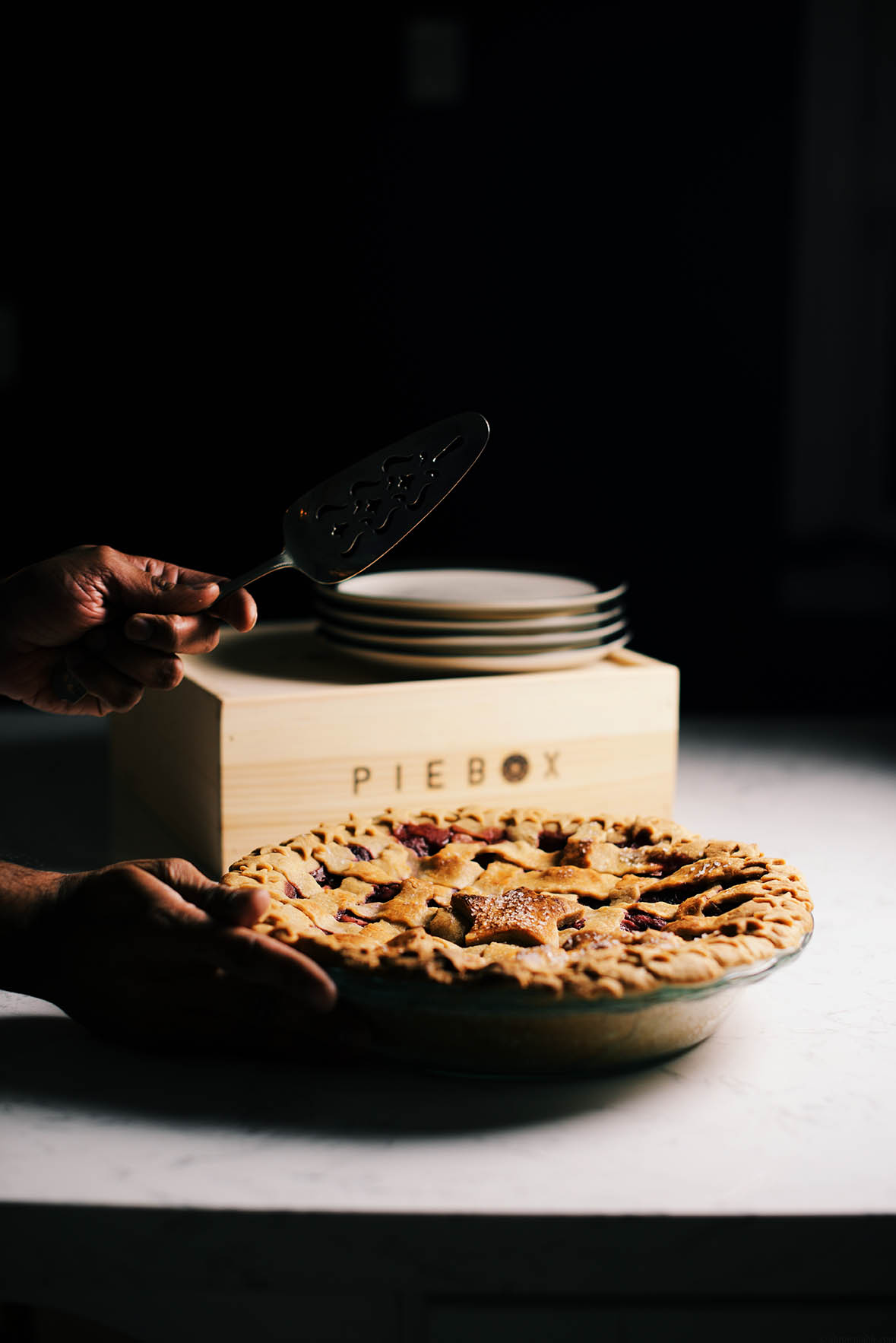 dry mango spiced apple cranberry pie | A Brown Table