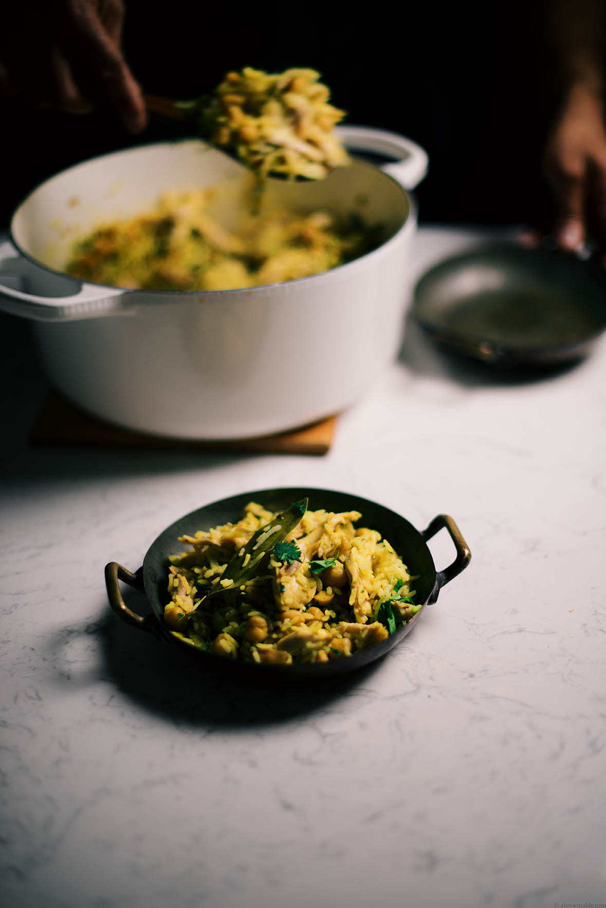 spiced chickpeas and chicken pilaf | A Brown Table