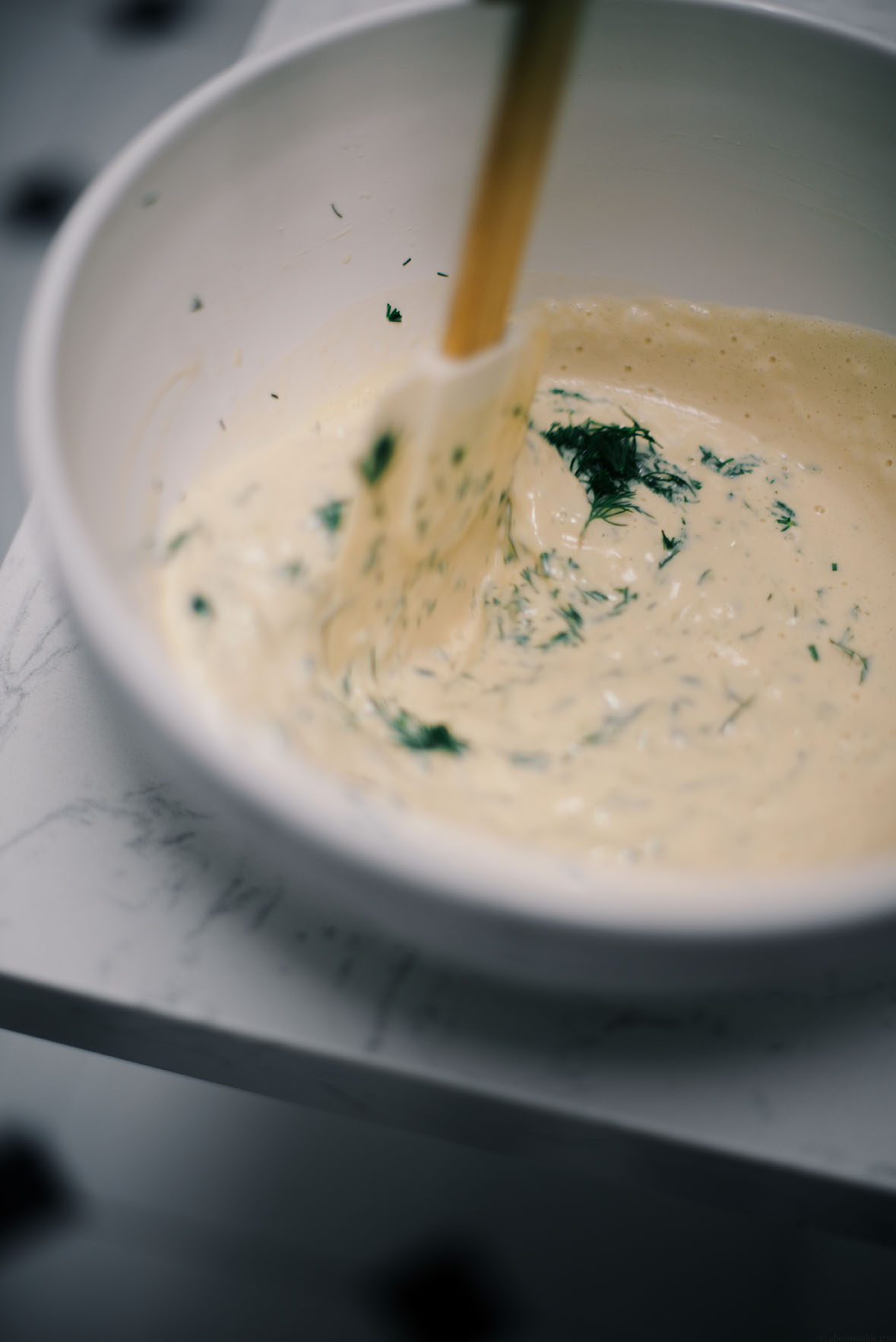 lindsey's chickpea based yogurt-free tzatziki dip | A Brown Table