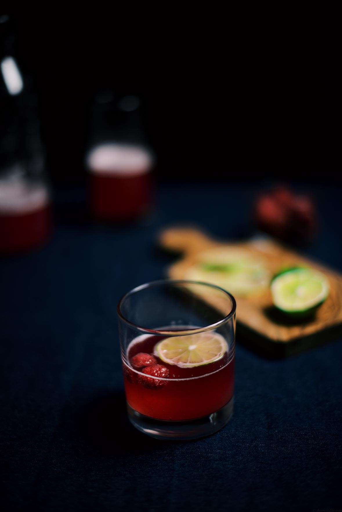 fennel raspberry rosé spritzer | A Brown Table