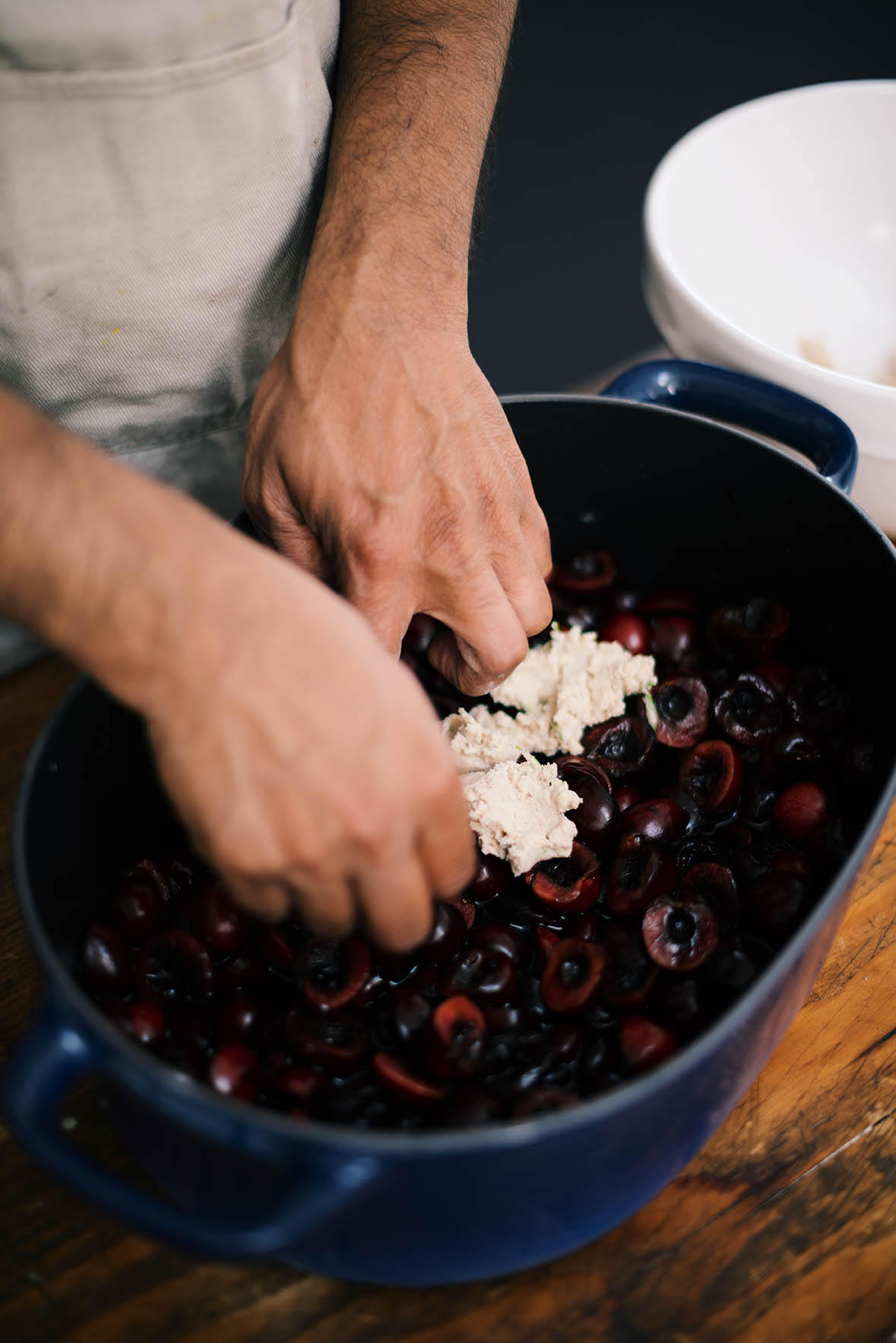 cherry and elderberry cobbler with buckwheat and quinoa crust | A Brown Table