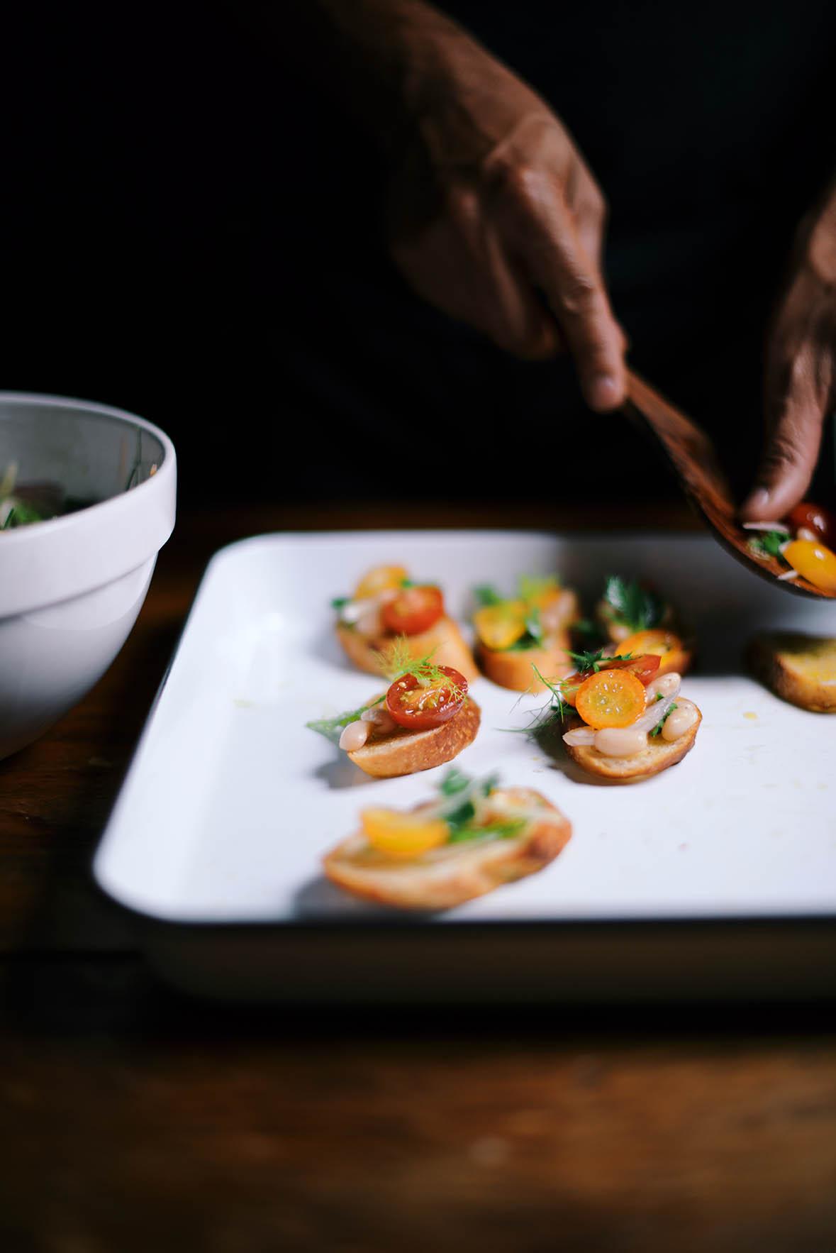 whitebean kumquat brushchetta | A Brown Table