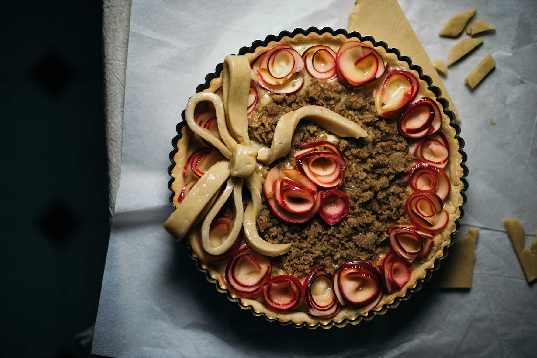 irvin's spiced brown butter apple rose tart| A Brown Table