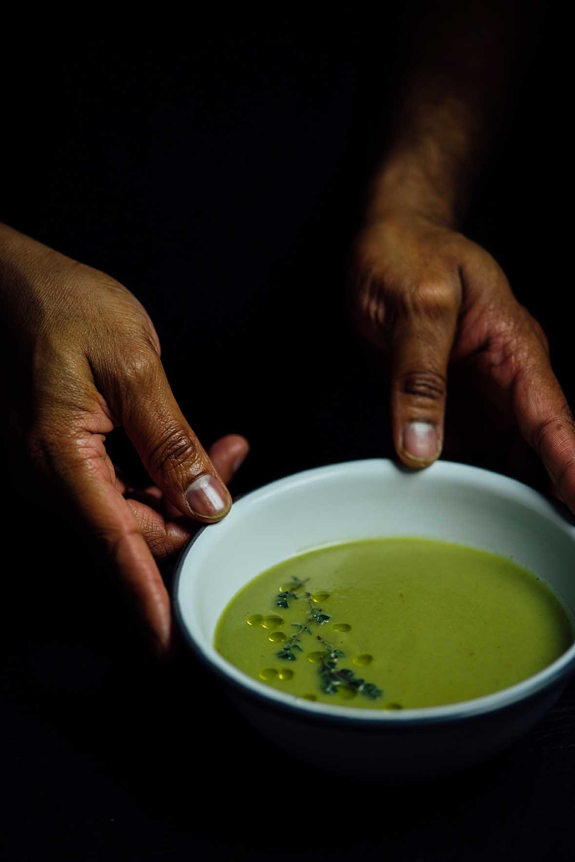 broccoli, thyme and gochujang soup | A Brown Table