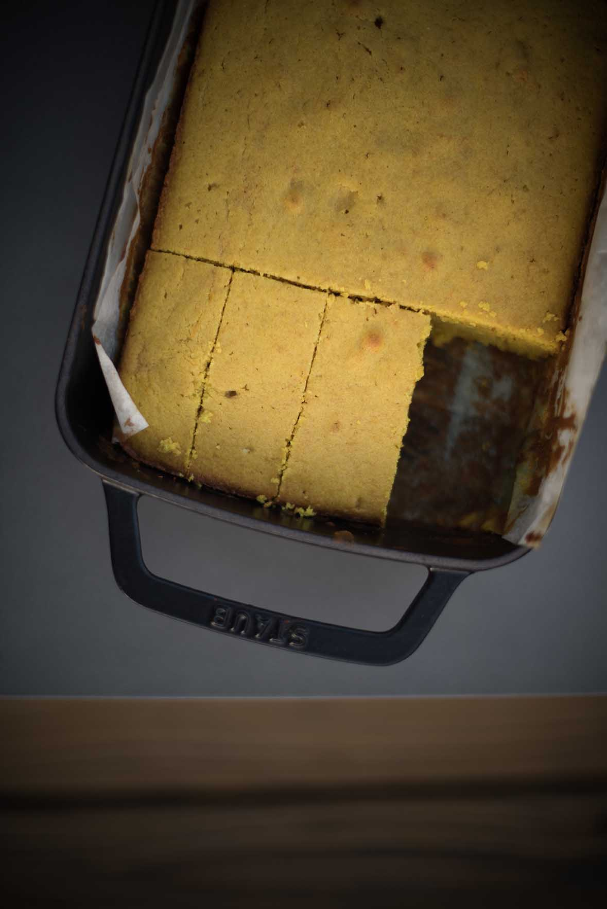 golden lemon and turmeric cake| A Brown Table