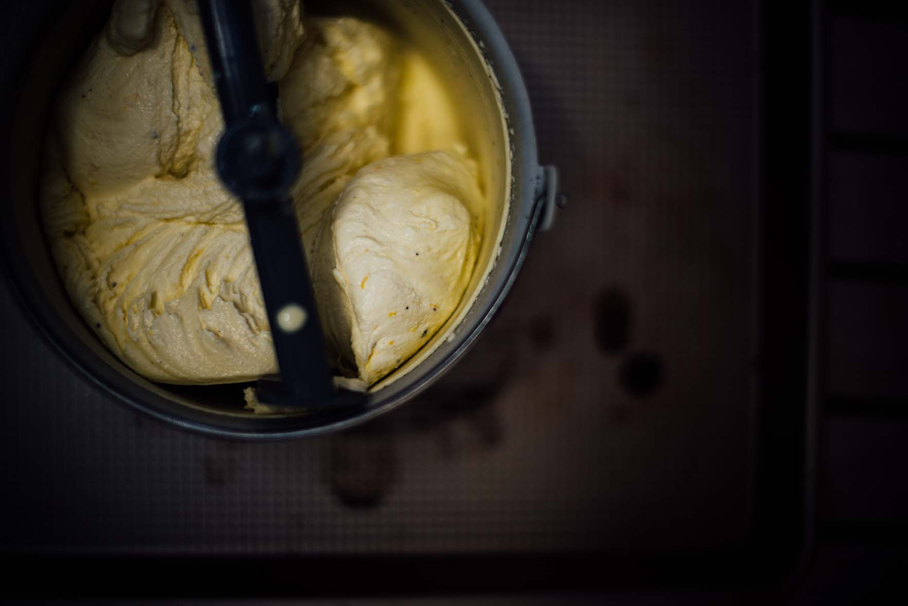 smoked meyer lemon ice cream with tellicherry black pepper | A Brown Table