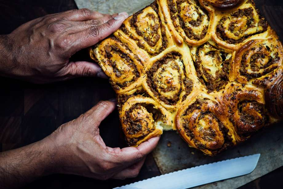 savory lamb swirl buns| Nik Sharma for SF Chronicle