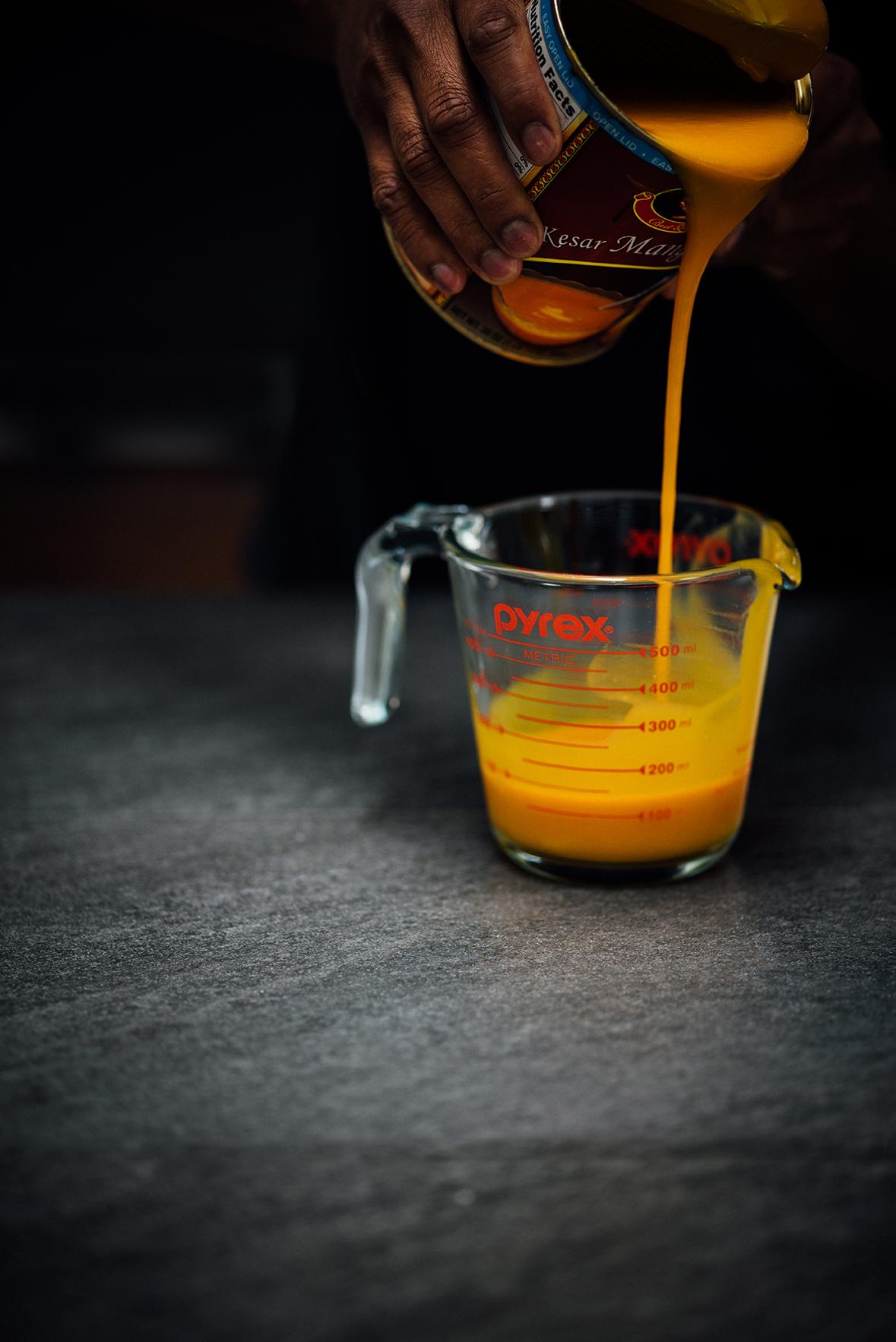 mango cardamom flan | Nik Sharma