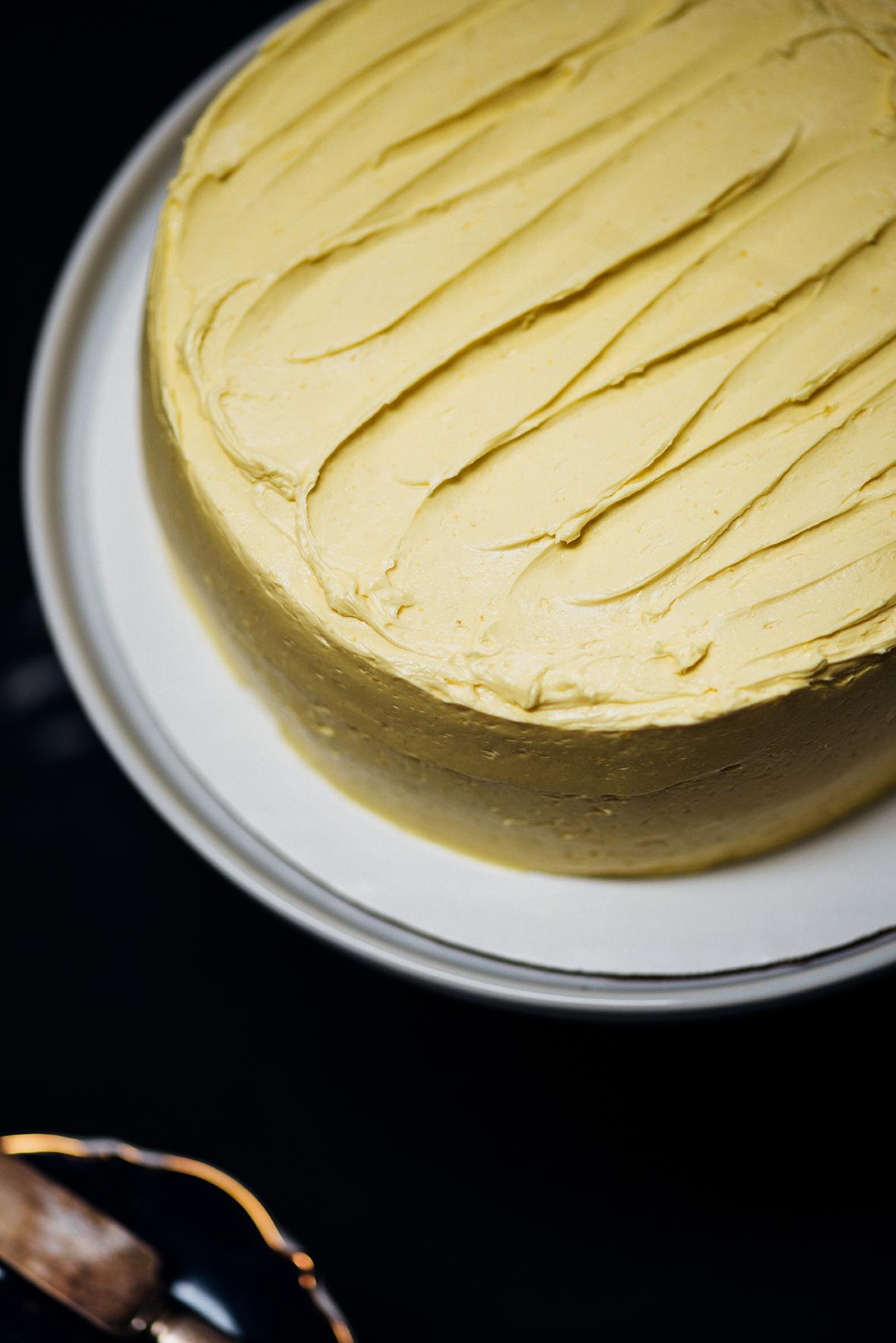 summer mango celebration cake|Nik Sharma for @SFChronicle