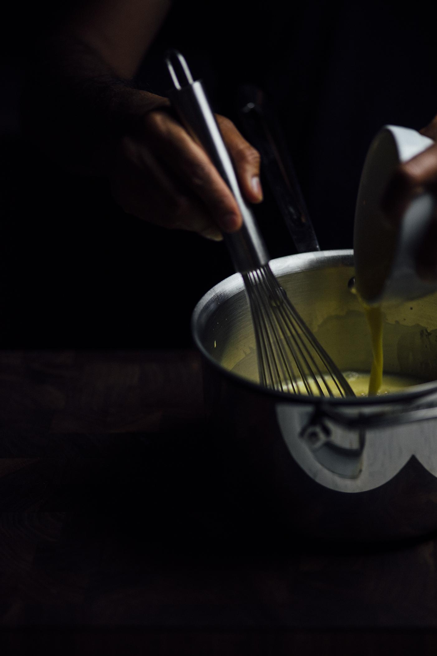 burnt sugar, saffron baked pudding  Nik Sharma