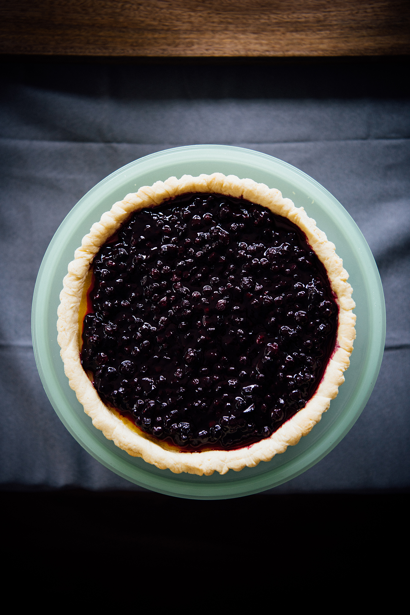 makrut lime leaf scented blueberry and lemon curd tart | Nik Sharma