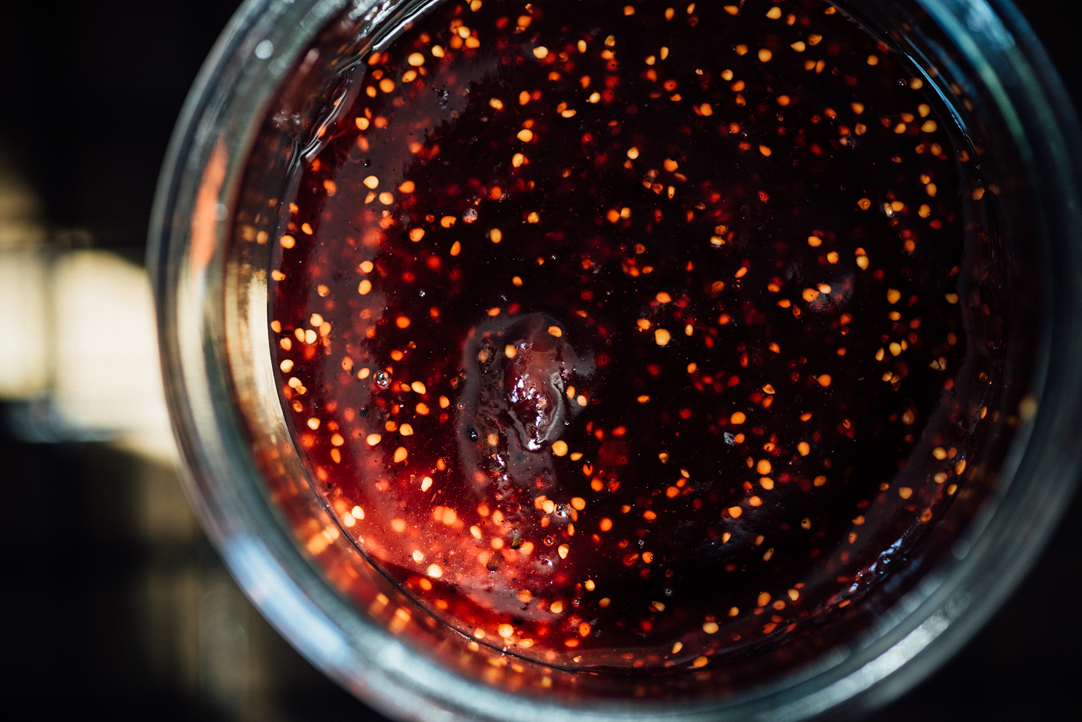 fig and pomegranate molasses jam with cardamom and pepper | Nik Sharma