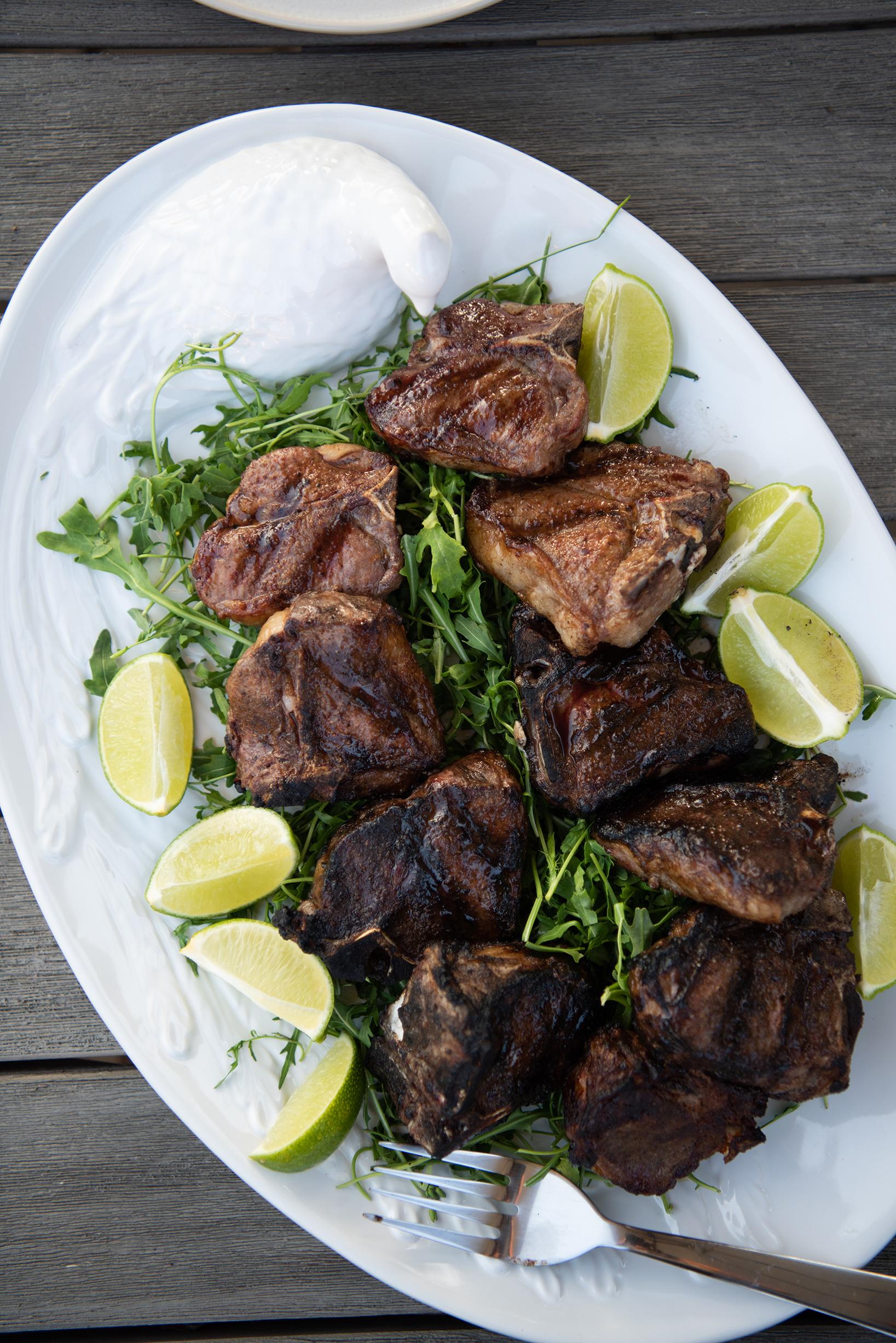 lamb dinner-28459.jpgGrilled lamb chops with garam masala and cumin| Nik Sharma