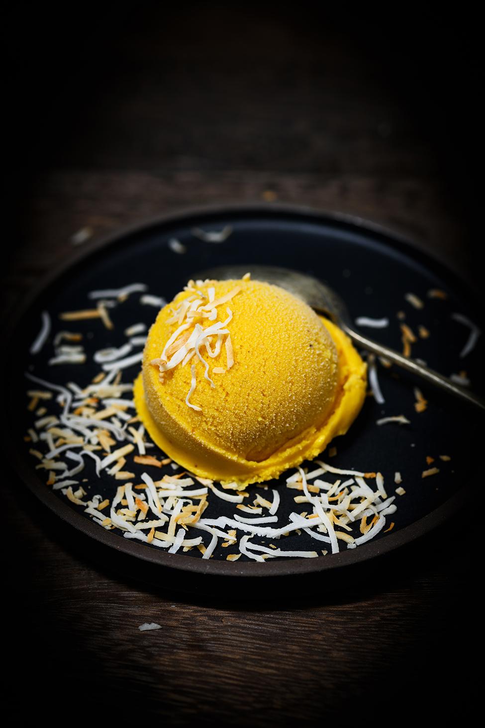 mango, coconut, and star anise ice cream   Nik Sharma