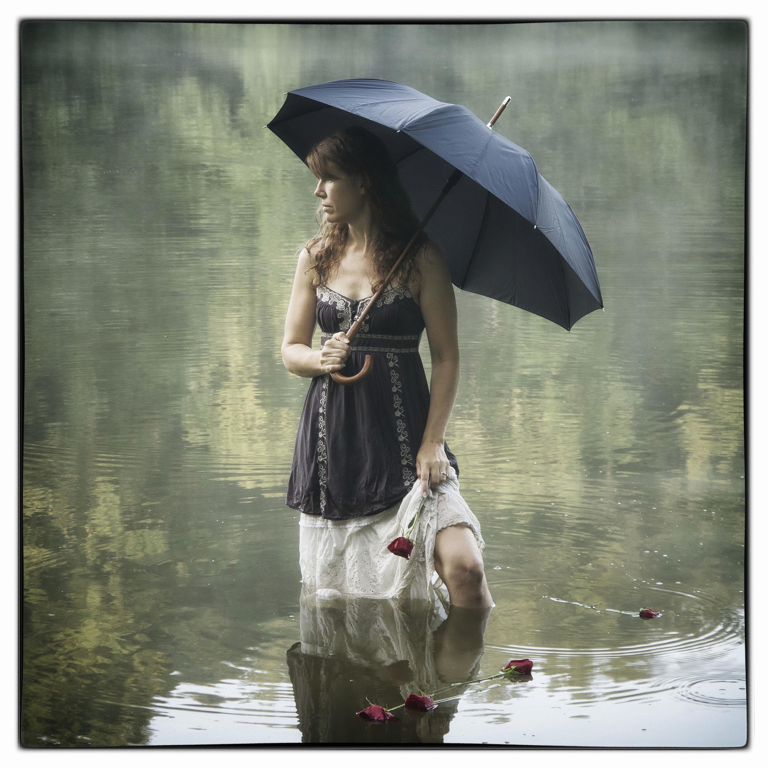 Lady with Black Umbrella
