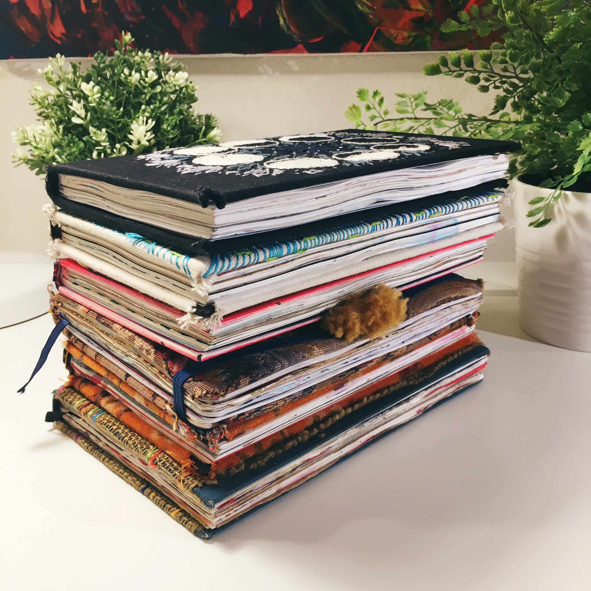All of the journals I have completed to date.