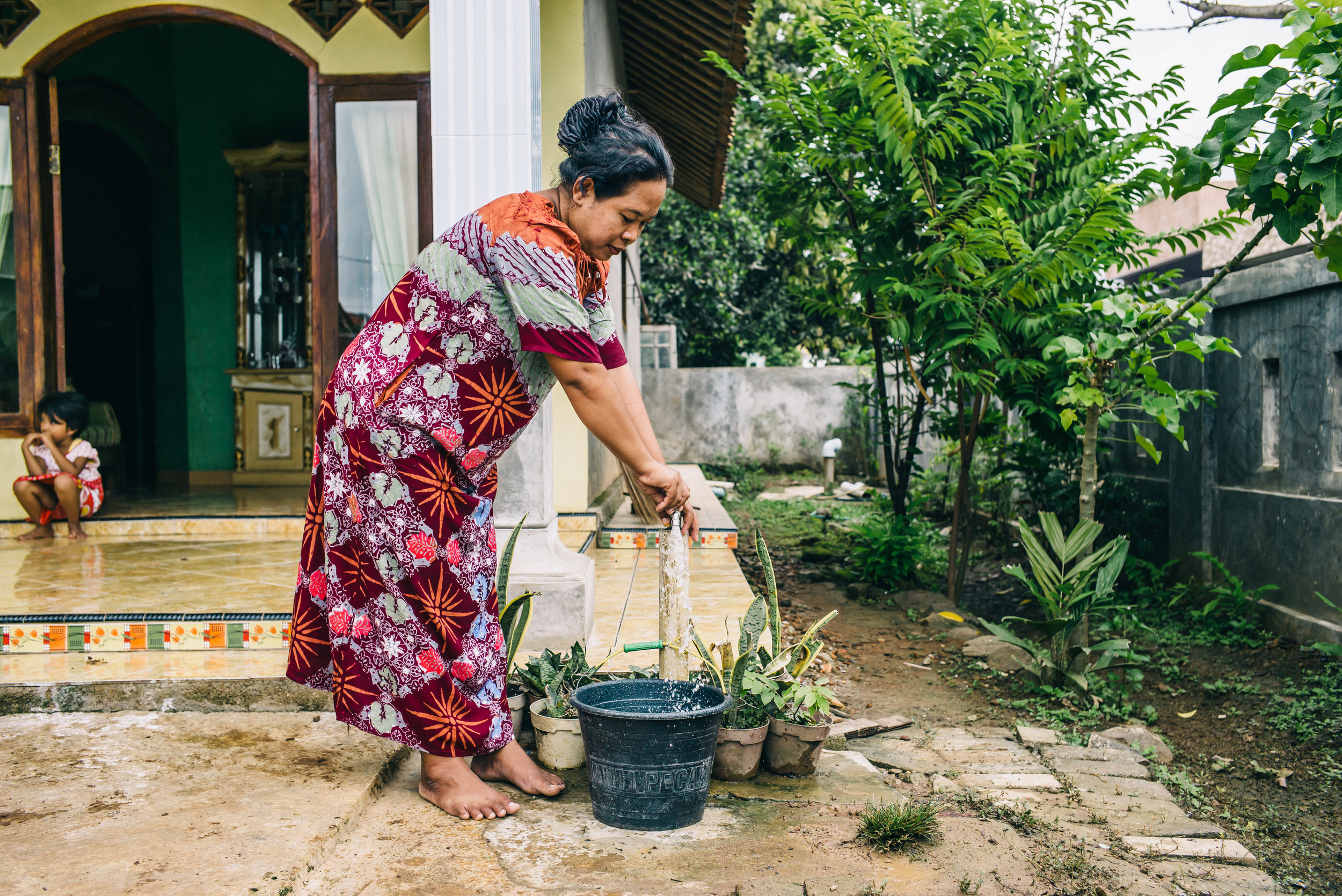 A WaterCredit loan recipient in Indonesia. Photo credit: Water.org