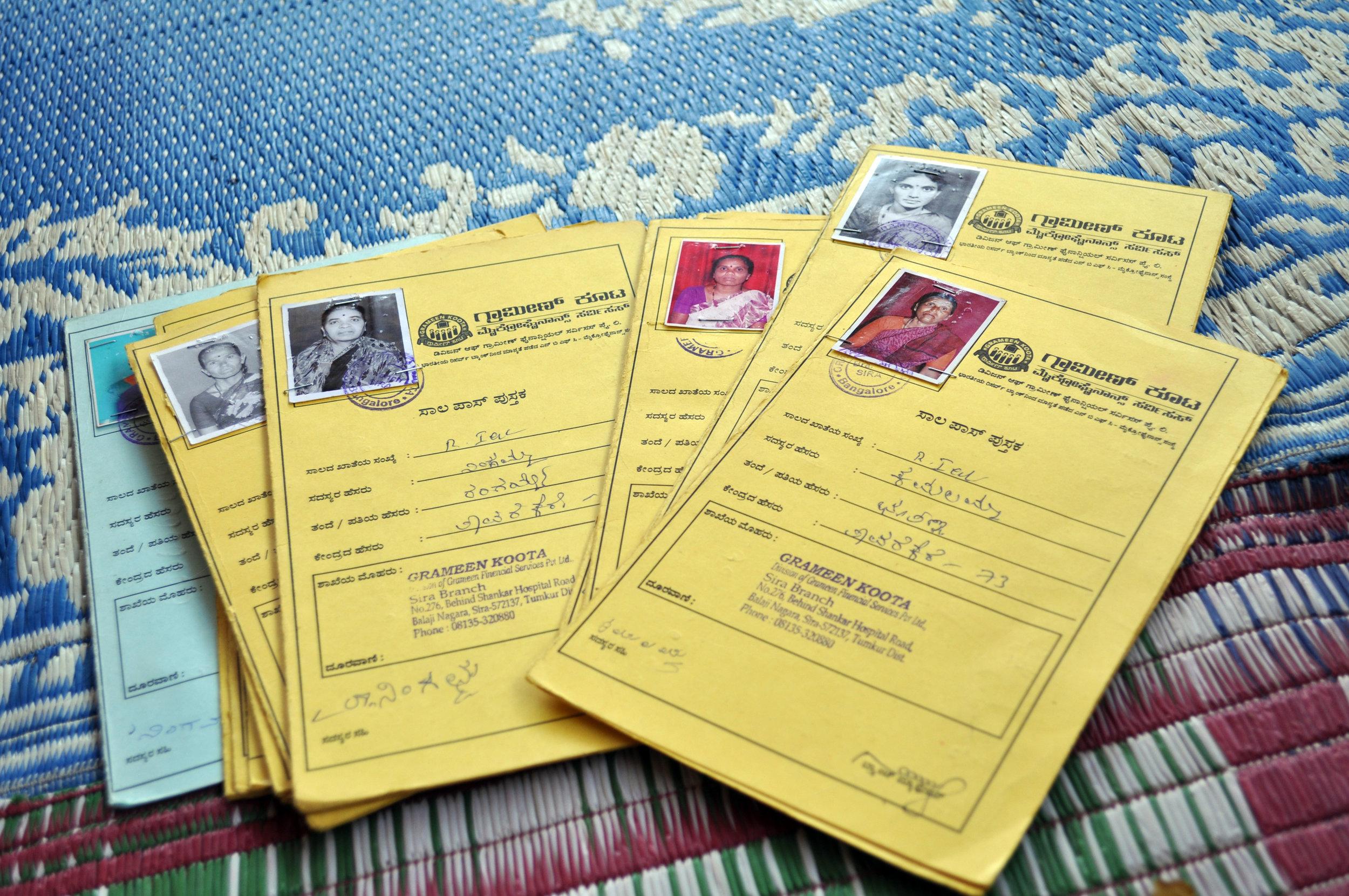 WaterCredit loan cards. Photo Credit: Water.org
