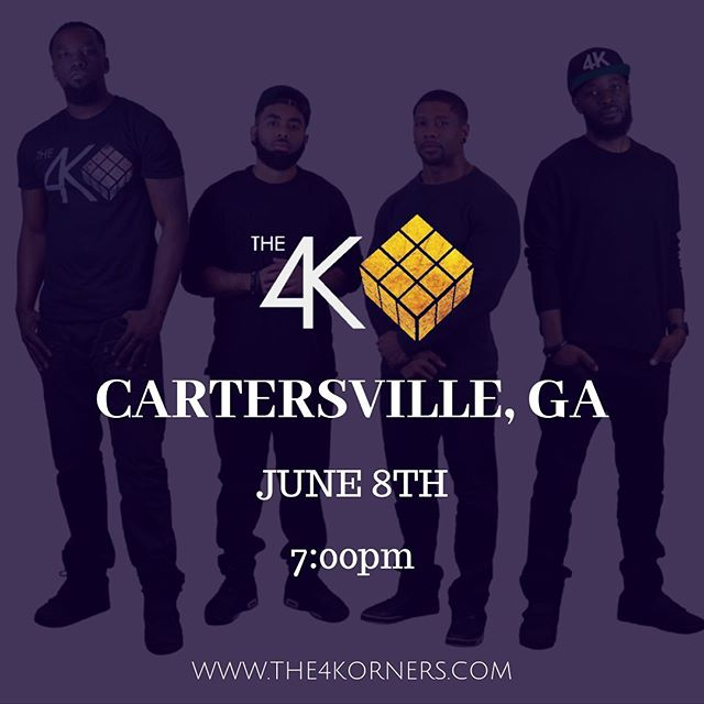 CARTERSVILLE, GA‼️ We will be performing live on Saturday June 8th @ 7:00pm downtown | ⚡️ ▪️Visit www.The4Korners.com for more info▪️ • • • #The4Korners #ItsAllGod #PlayWithPurpose #JourneyMusic #FindYourJourney #PortalOfGold