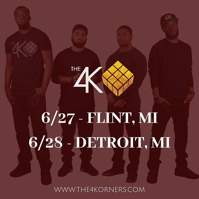 MICHIGAN‼️ We're coming your way! • • • ▪️6/27 - FLINT, MI (Concerts @ The Valley) ▪️6/28 - DETROIT, MI (DIME) • • • Visit www.The4Korners.com (Tour dates) for details