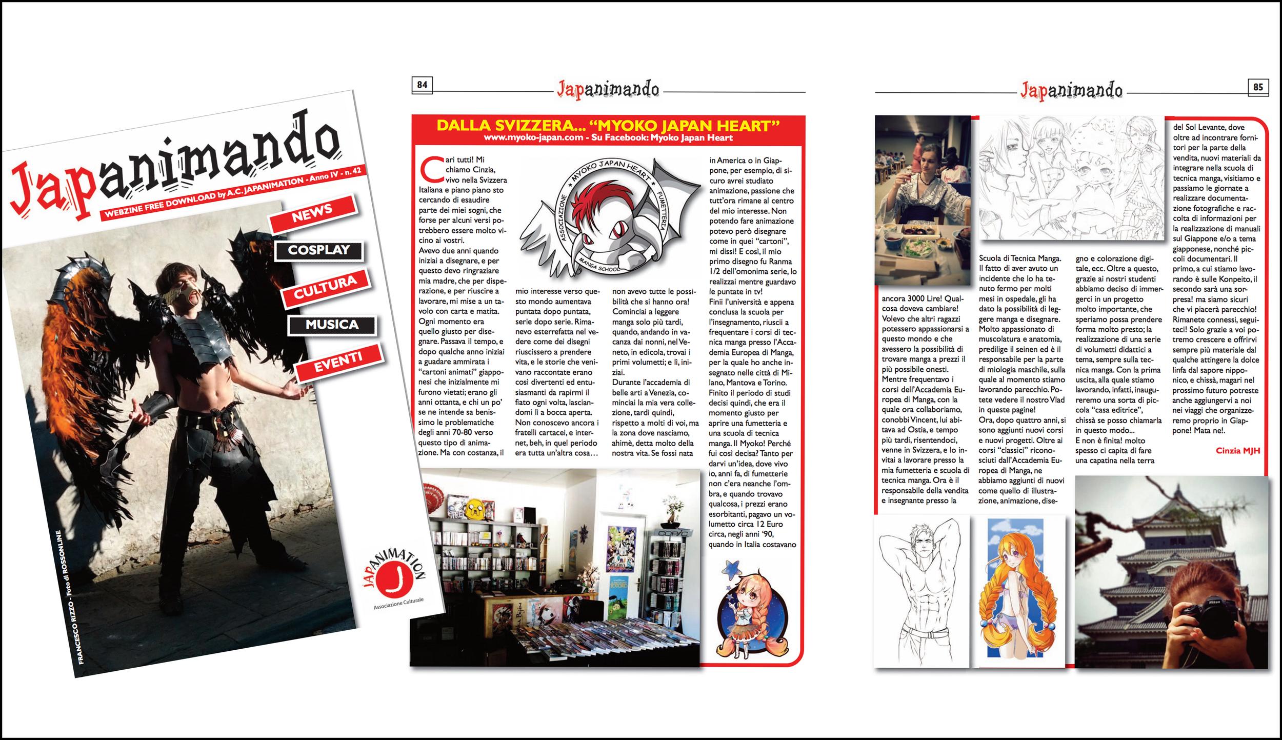 Ringraziamo Vincenzo D'Amico e la sua webzine Japanimando!