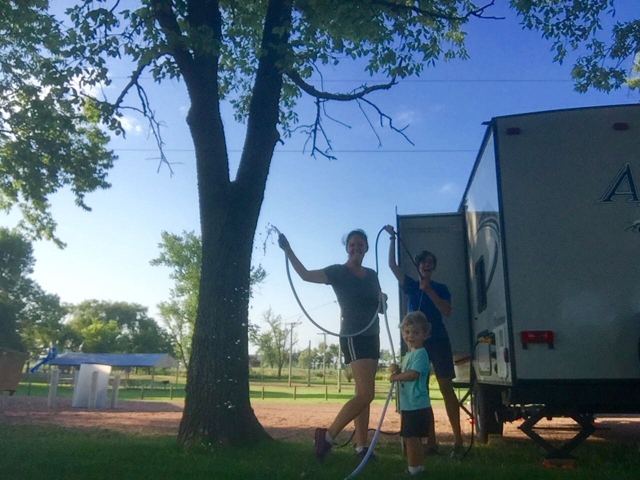 Celebrating a FREE campground in tiny Marion, SD that even had electric and water hookups!