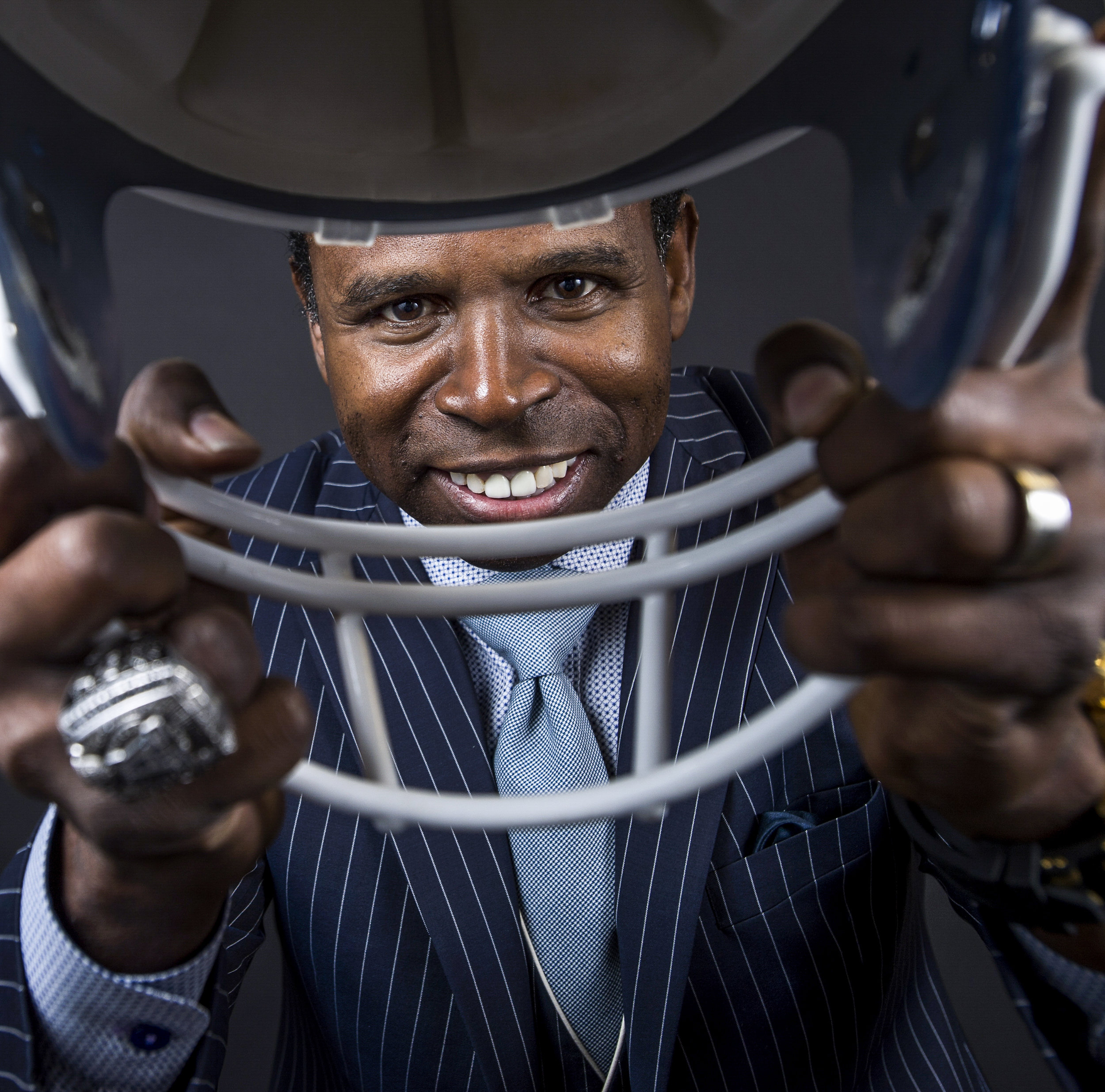"Michael ""Pinball"" Clemons poses for a portrait at his office in Mississauga, Ont. on March 03, 2015."