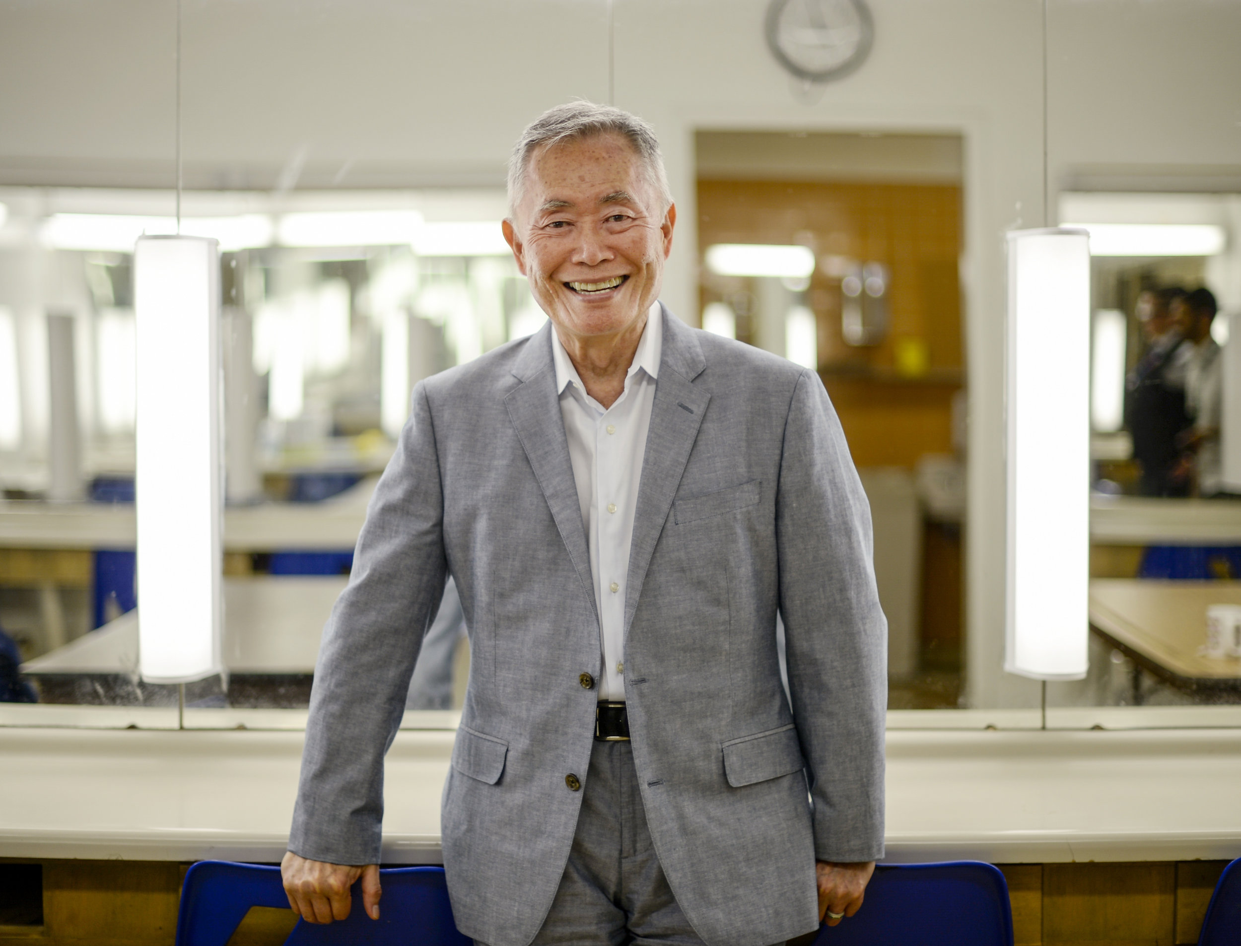 George Takei, actor and activist, poses for a photo before speaking at Ryerson Theatre in Toronto, Ont. on June 26, 2016.