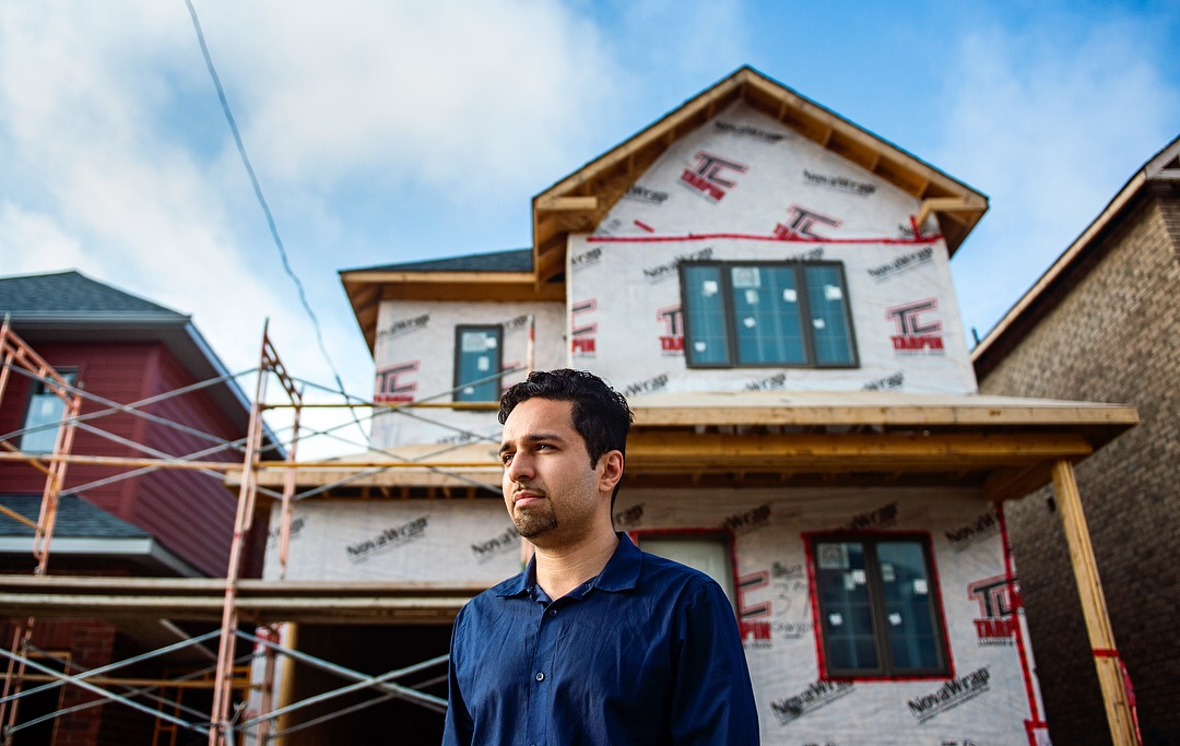 Abid Mirza, 29, is pictured outside of his new home in Barrie, Ont. on Tuesday July 24, 2018. Mirza and his finacé Sapna purchased the house in February of 2017 at the height of the real estate boom. They estimate the house is worth about $100,000 less than what they initially paid.