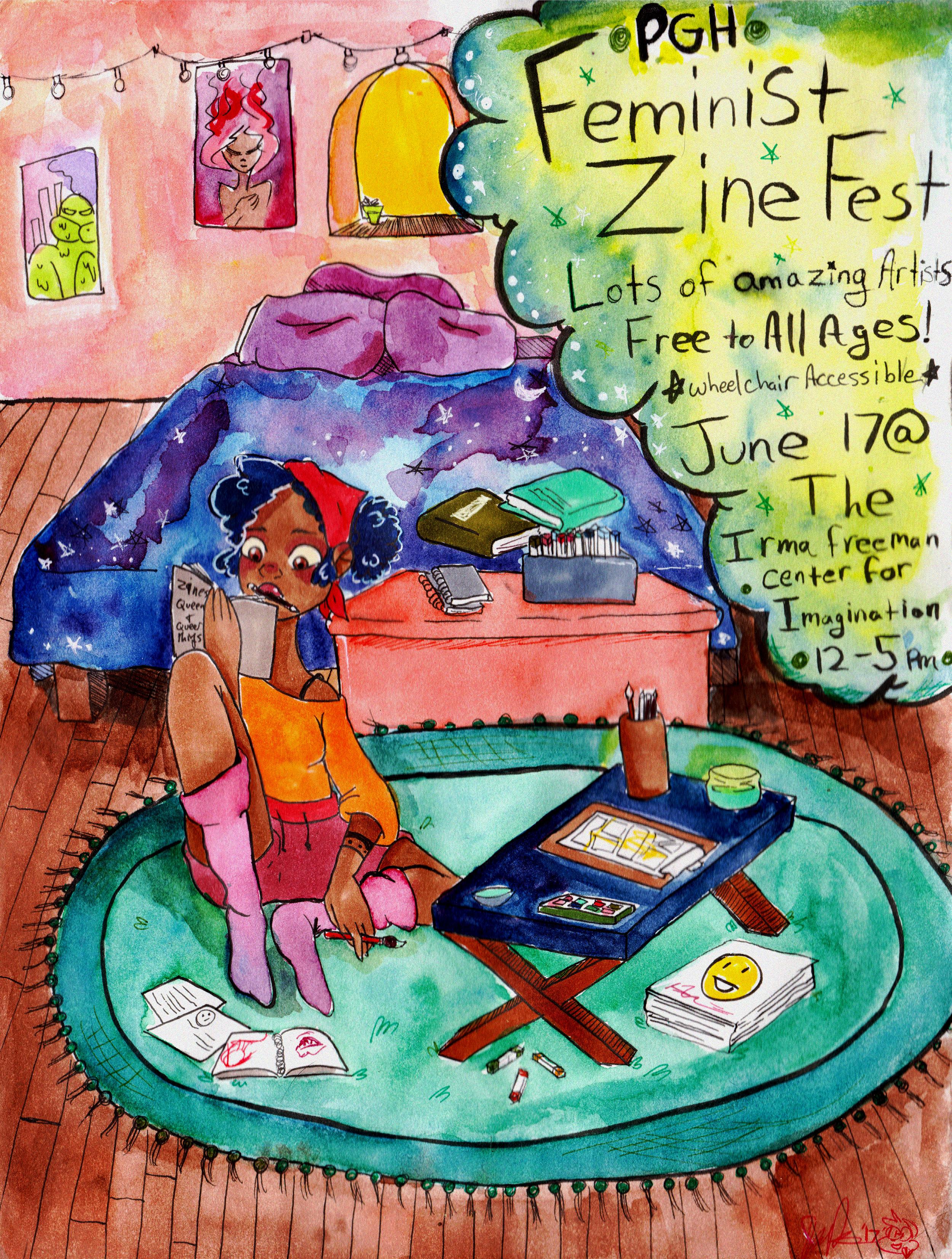 Feminist Zine Fest Poster
