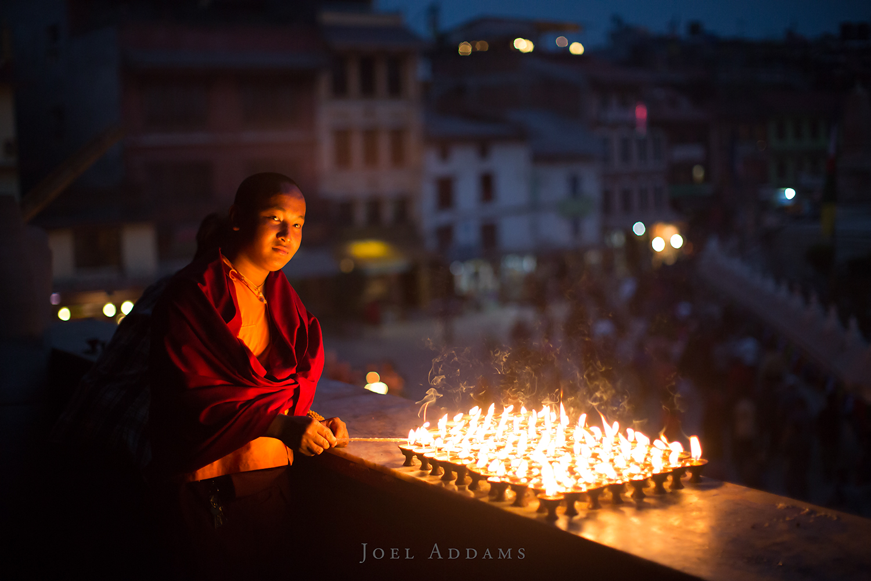 Evening Candles, Kathmandu. Photo by Joel Addams
