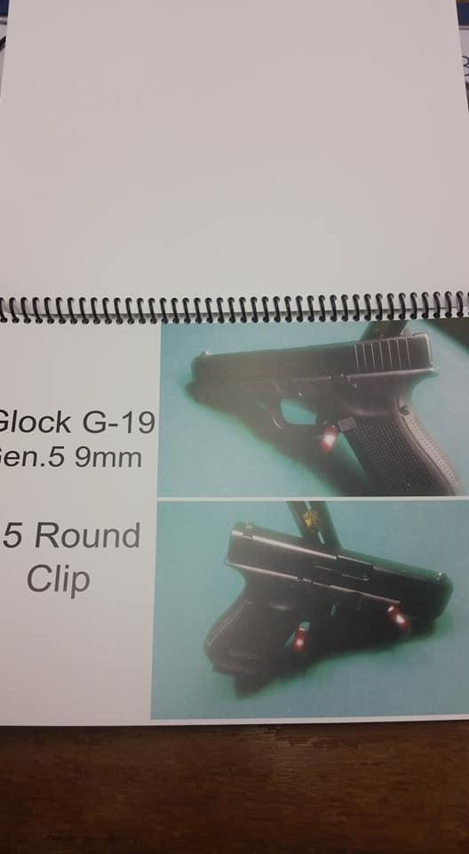 Glock G-19 GEN. 5 9mm 5 Round Clip