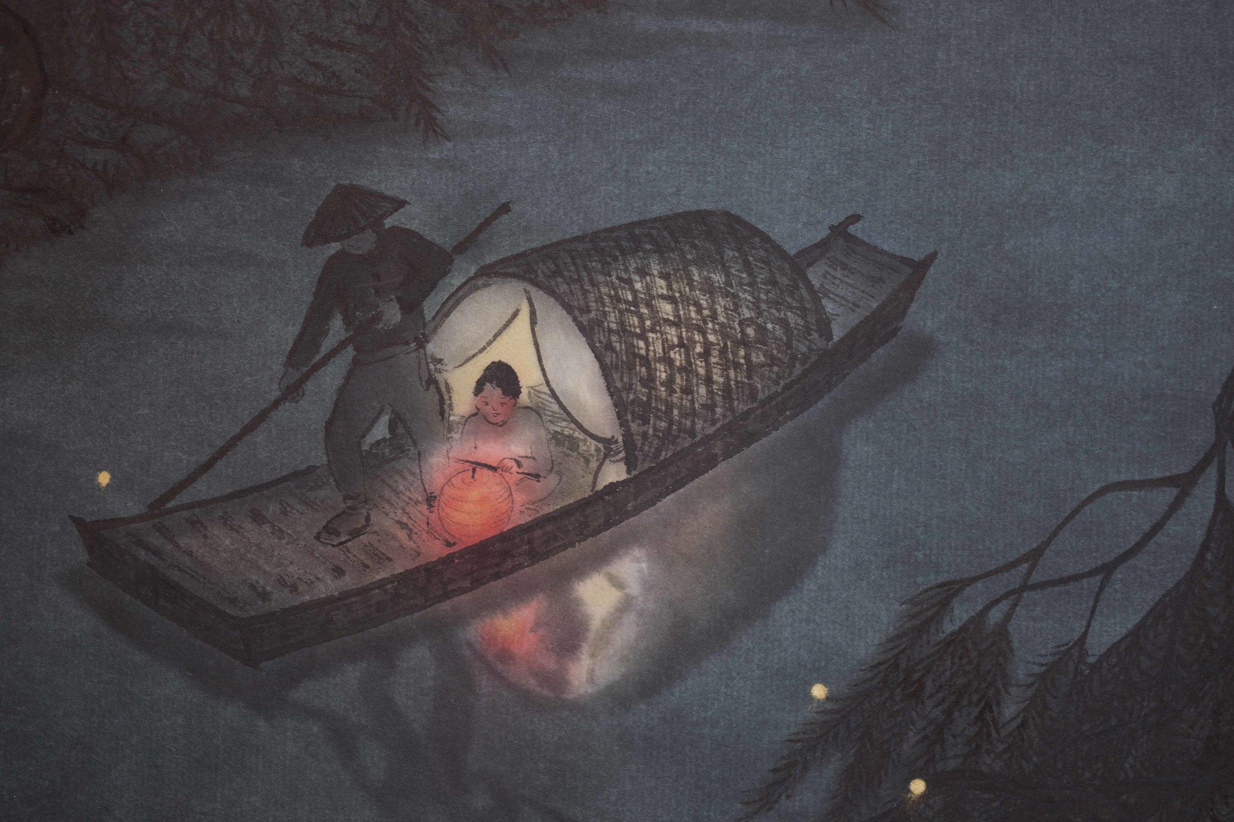 Fireflies at Nightfall Detail-1