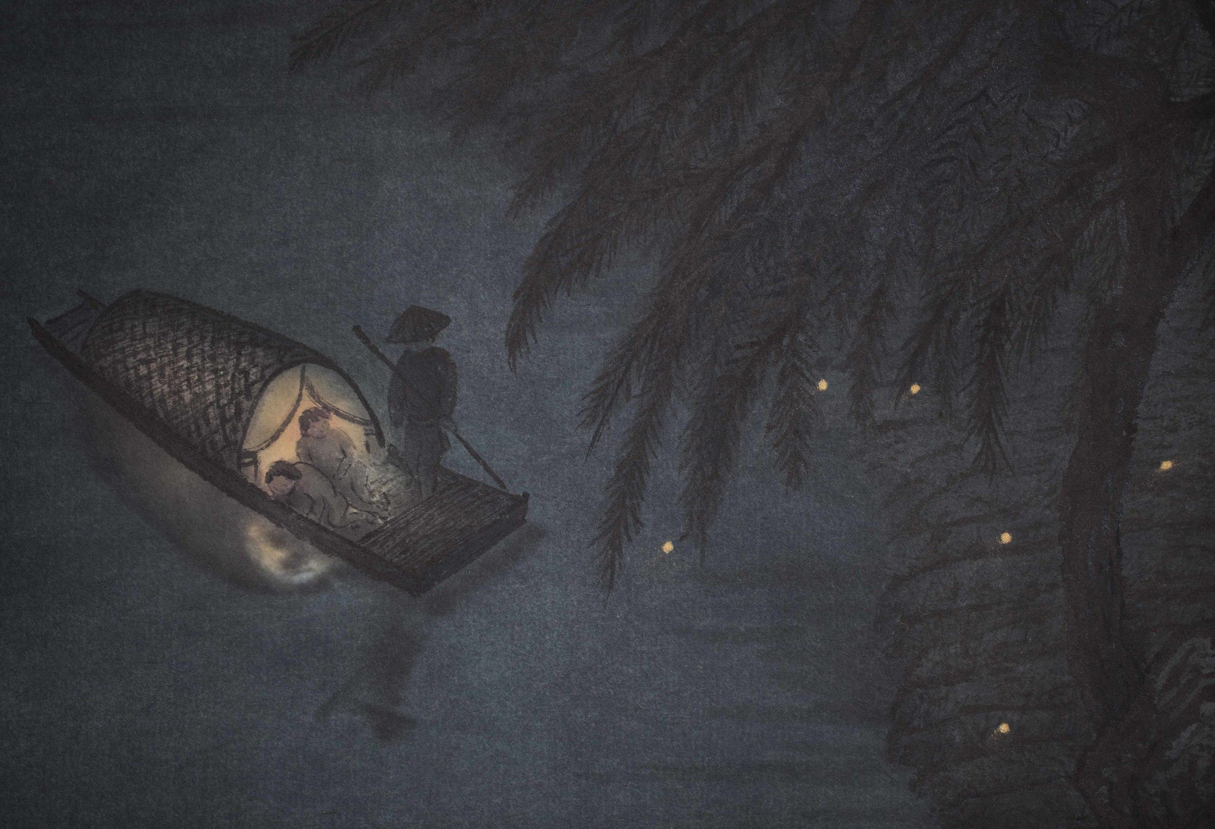 Fireflies At Nightfall Detail 2