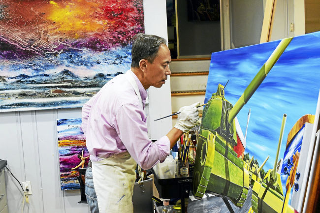 """Eric C. Chiang   When the Taiwan born artist Eric Chiang decided to leave his native land in 1981 he was taking a giant leap of faith. """"In the '70s Taiwan was a poor country and opportunities for young men like myself were somewhat delicate,"""" he explained in his excellent and precise English during a recent conversation at his home-studio in Westport.........."""