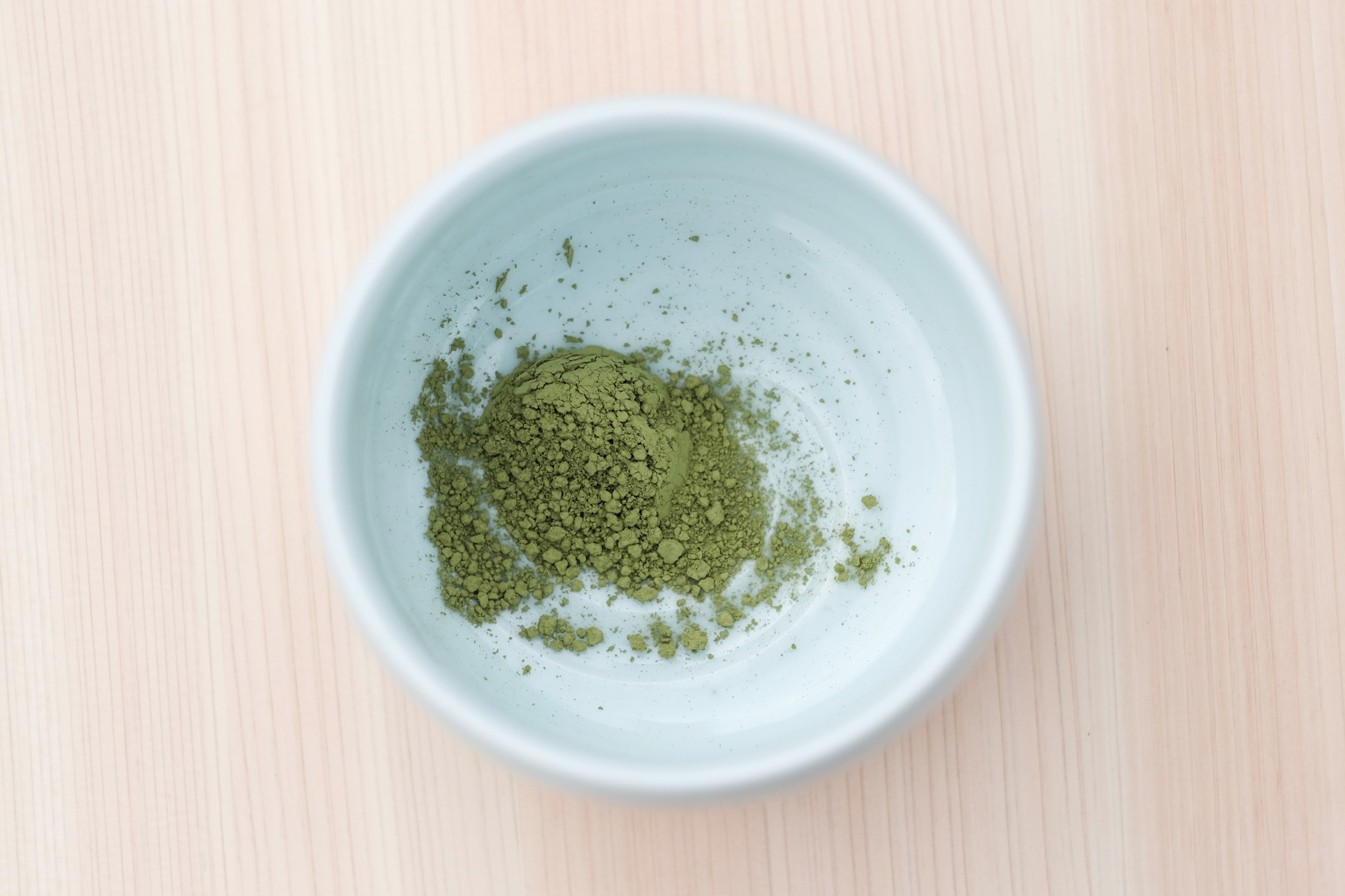 Place your teaspoon of matcha into the matcha bowl.