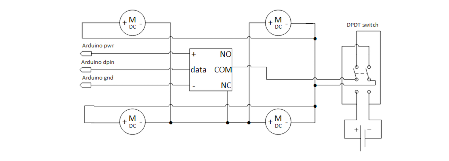 Relay, Motor, and Switch Schematic