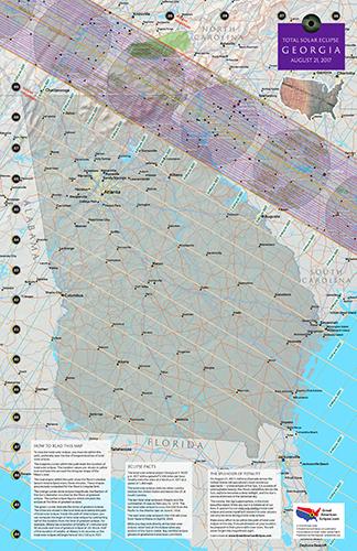 Map Of Georgia 2017.Georgia Eclipse Total Solar Eclipse Of April 8 2024