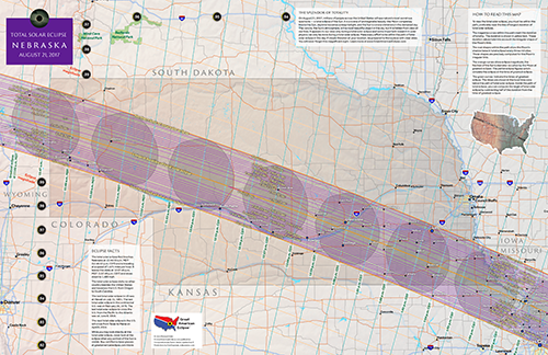 "click to buy 11"" by 17"" detailed eclipse map of nebraska"