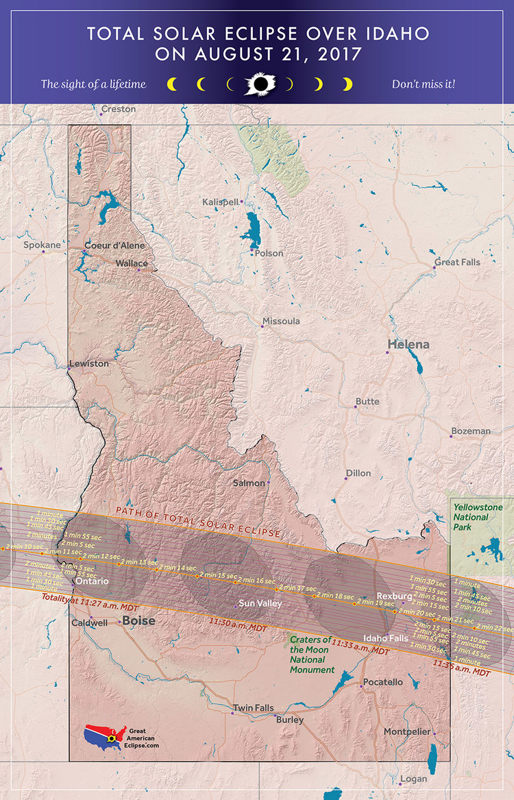 Idaho eclipse — Total solar eclipse of April 8, 2024