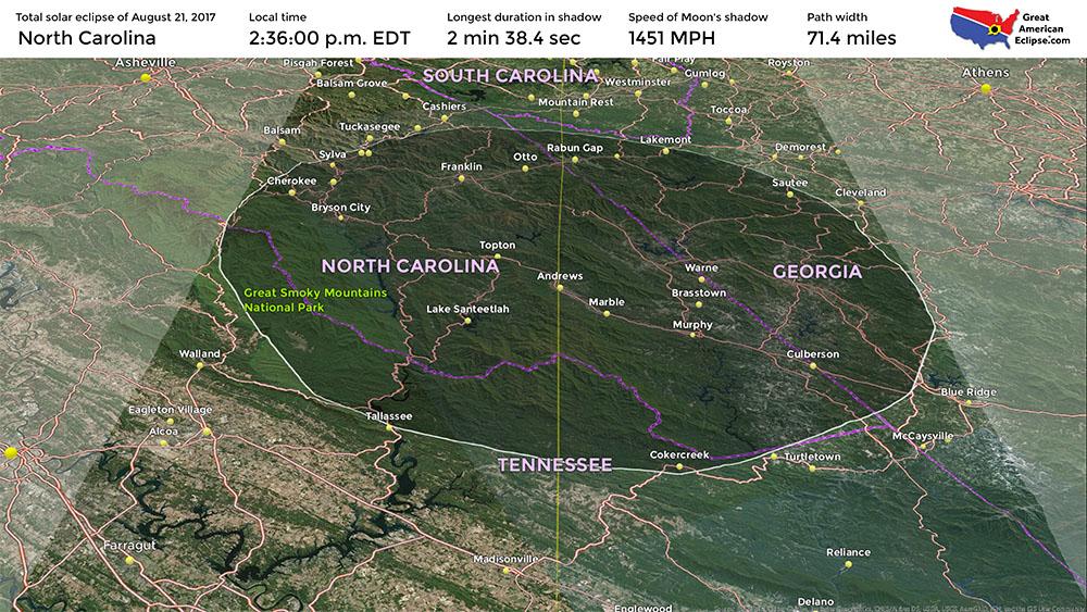 North Carolina Eclipse Map North Carolina eclipse — Total solar eclipse of April 8, 2024
