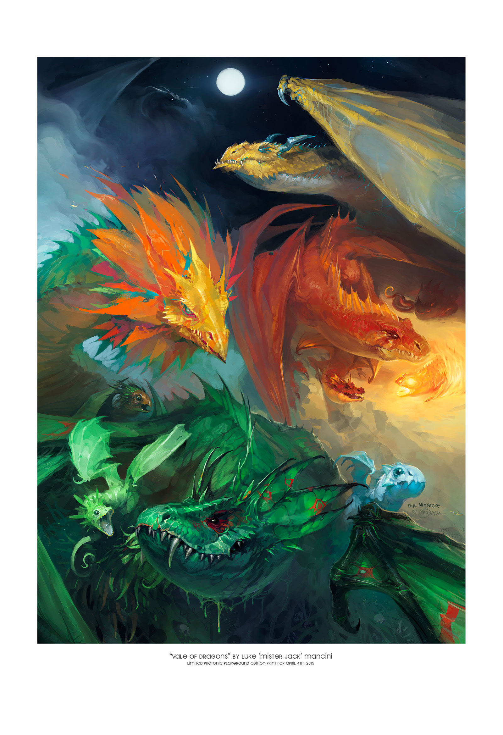 """""""Vale of Dragons"""" (print)"""