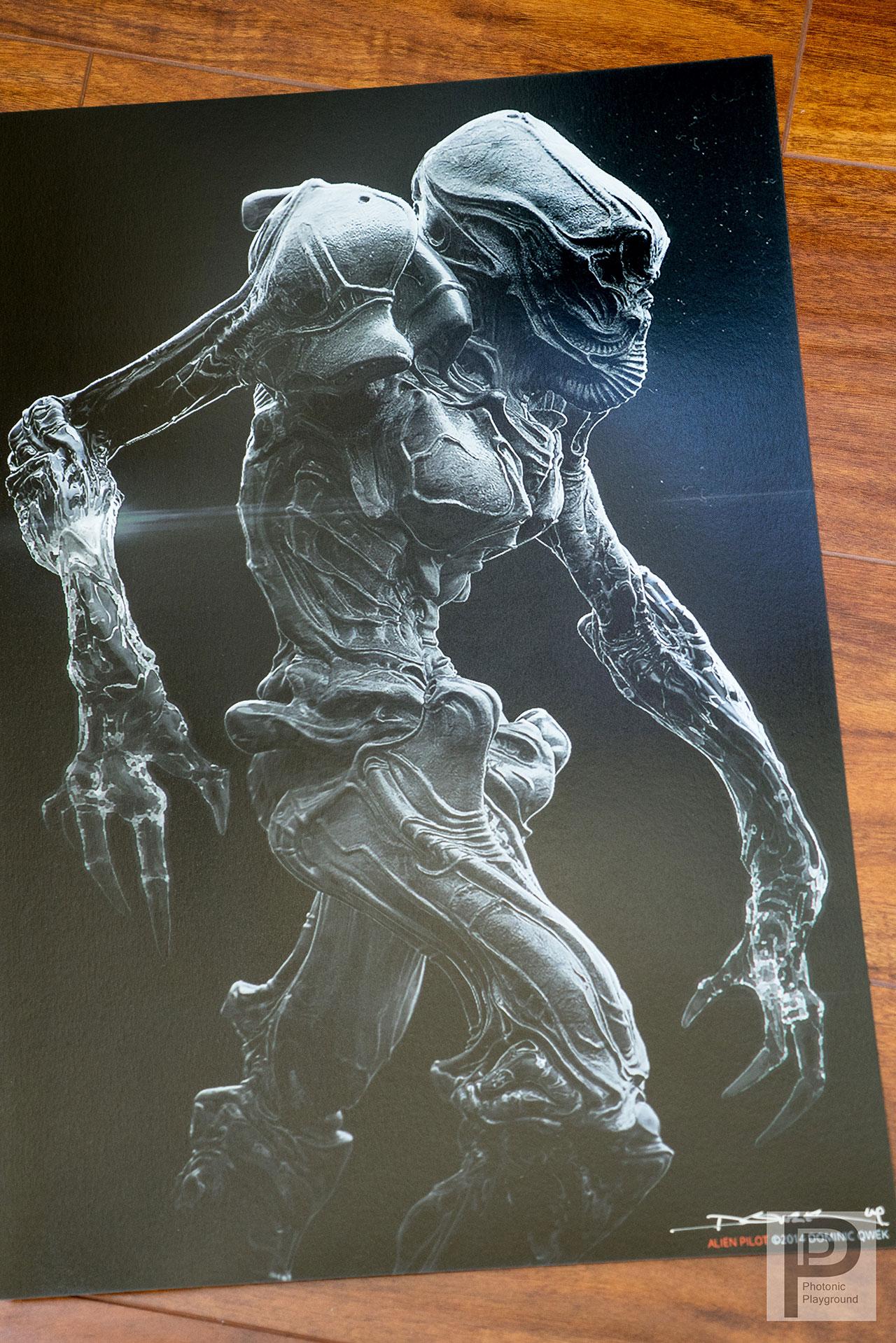 """Alien Pilot"" 13x19"" gicl é e print"