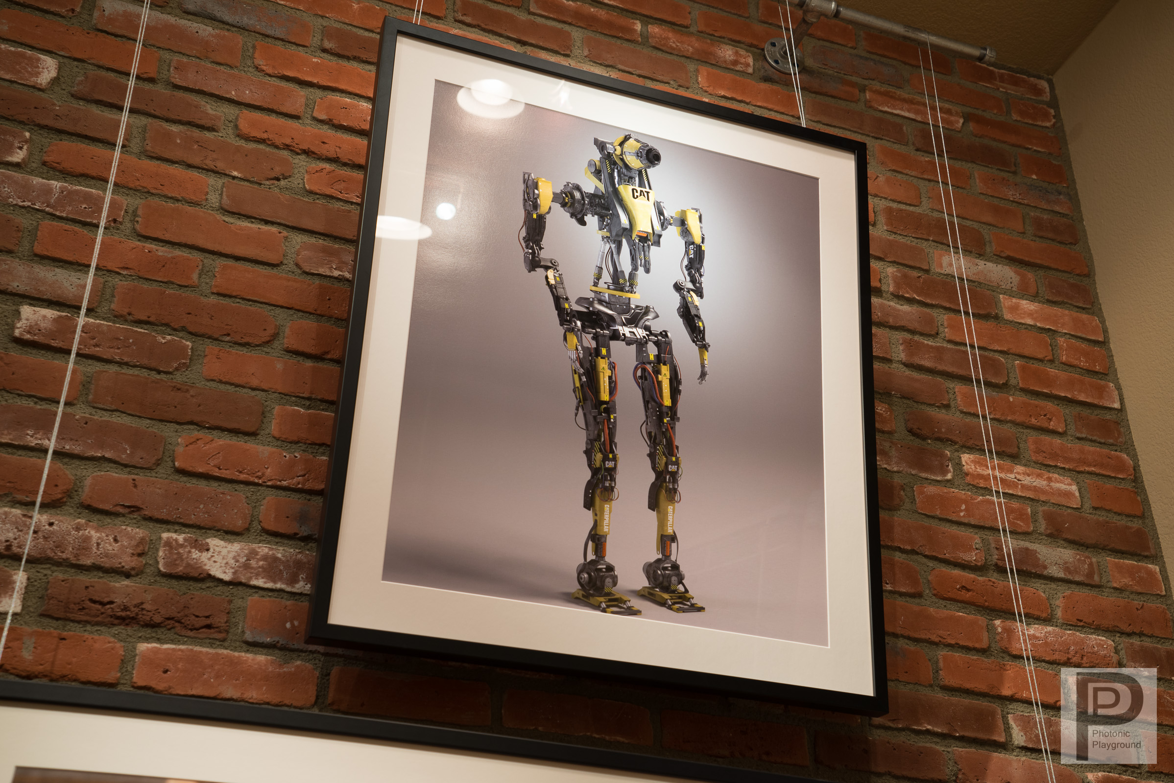 """""""Cat Bot"""" framed and matted"""