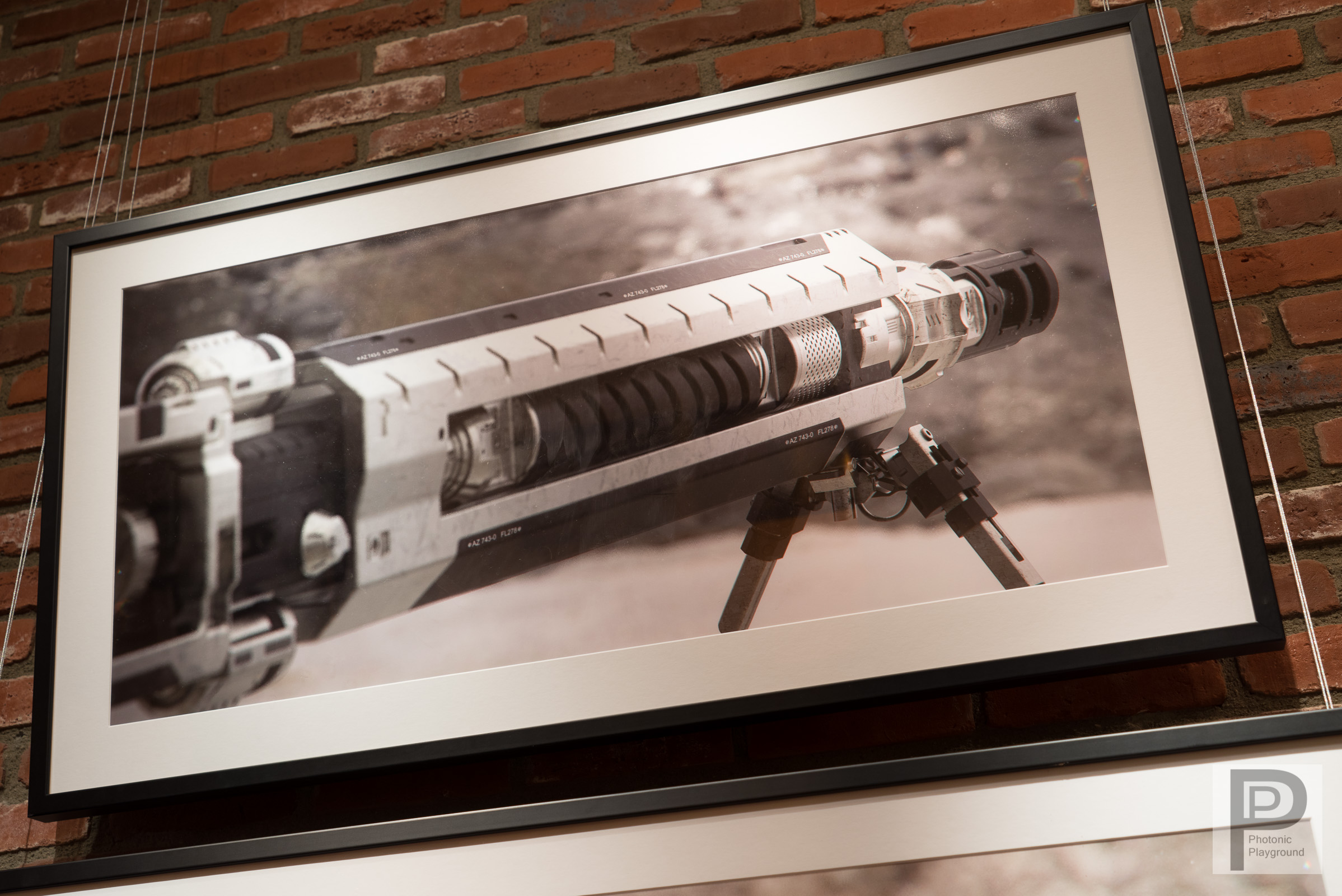 """""""Rifle"""" (side) framed and matted"""