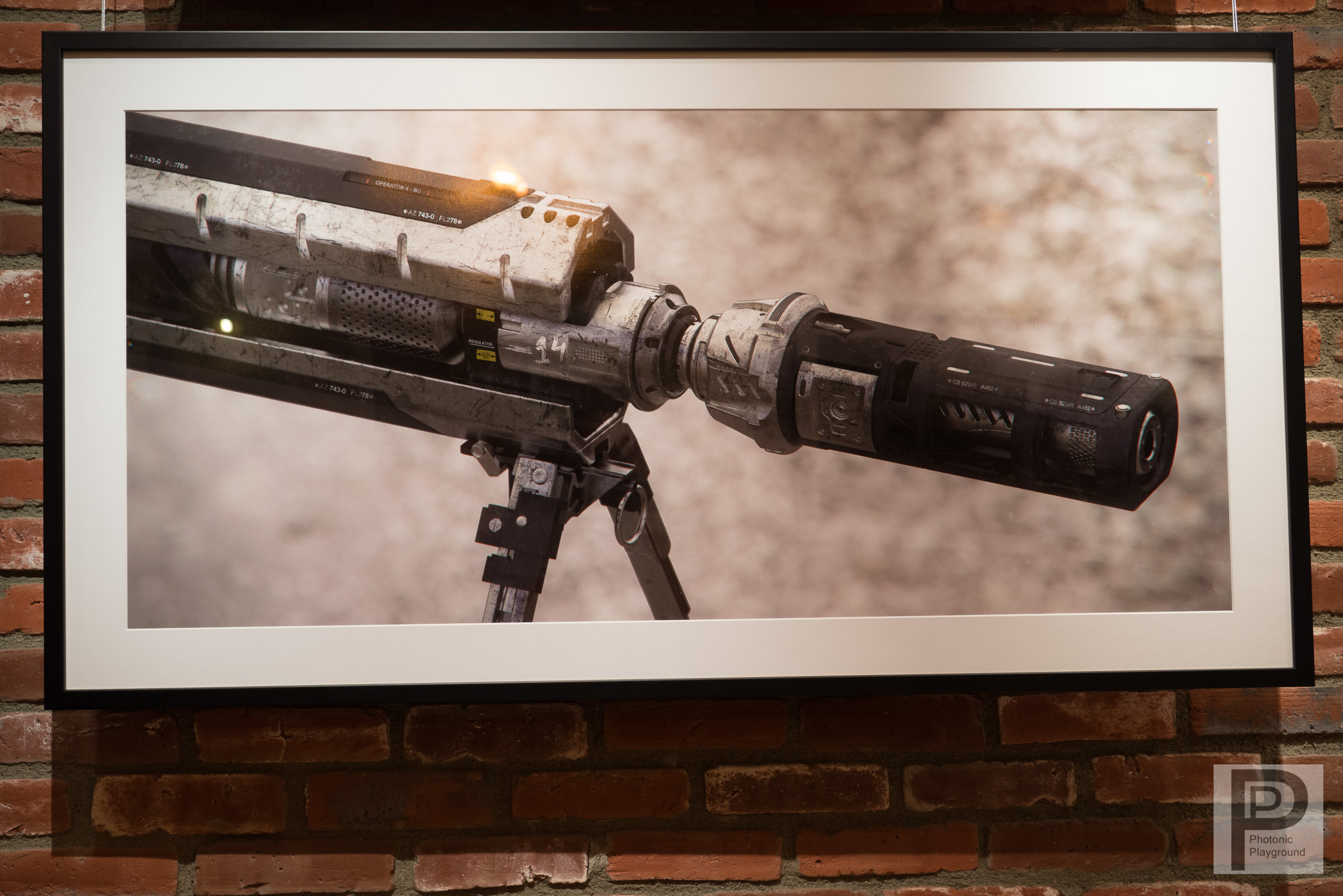 """""""Rifle"""" (tip) framed and matted"""